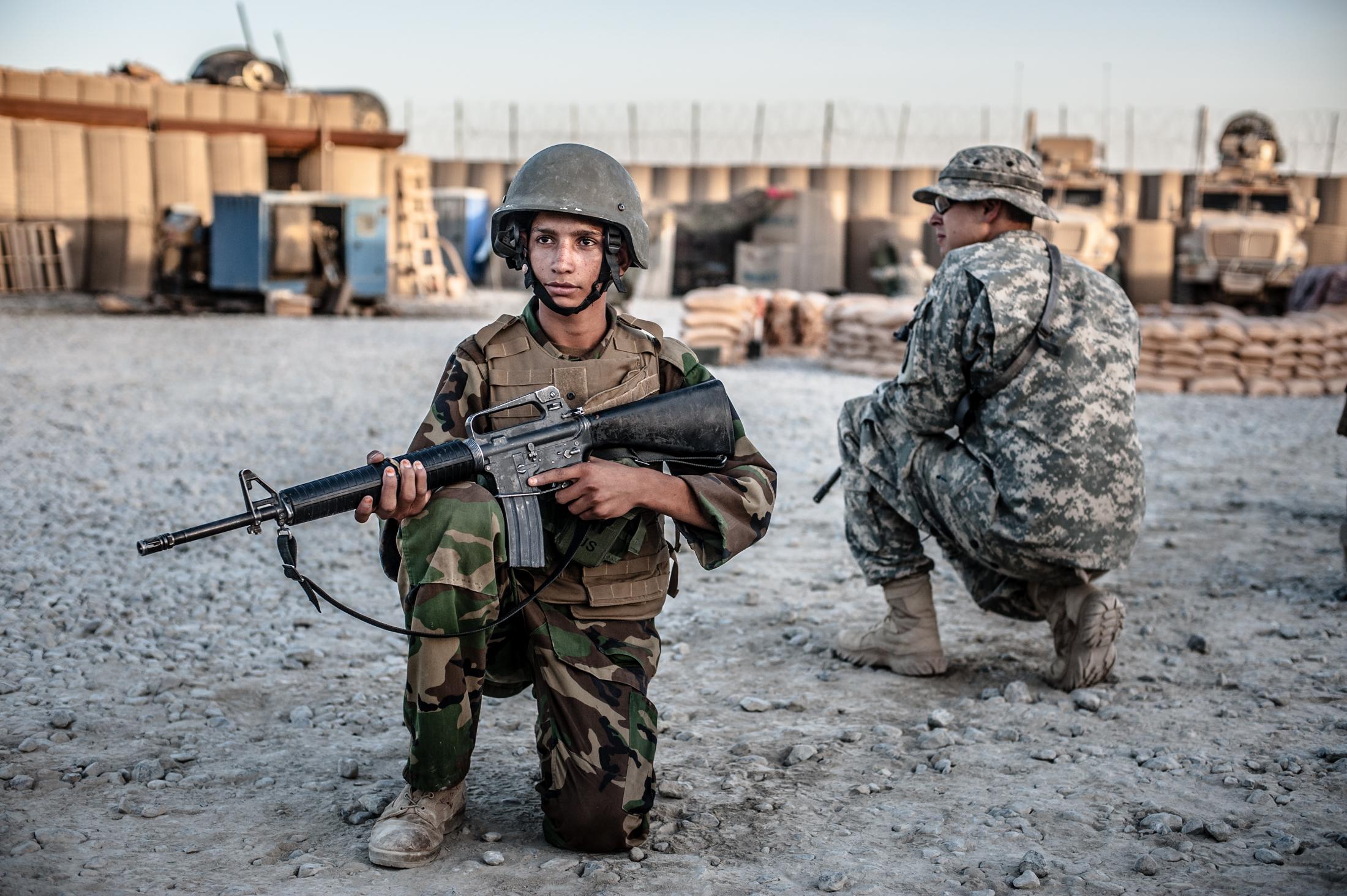 Afghan National Army training 2015