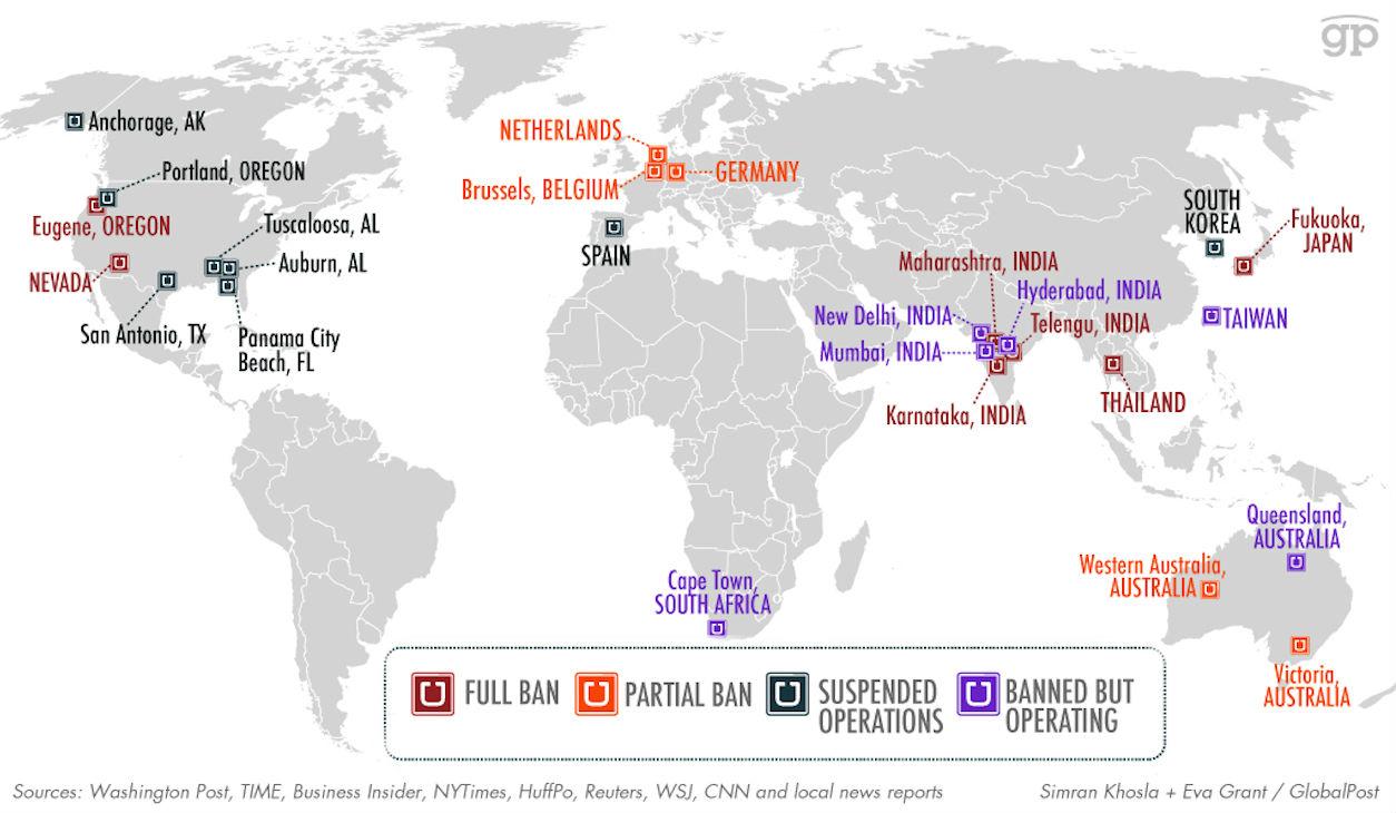 Uber Cars Per City