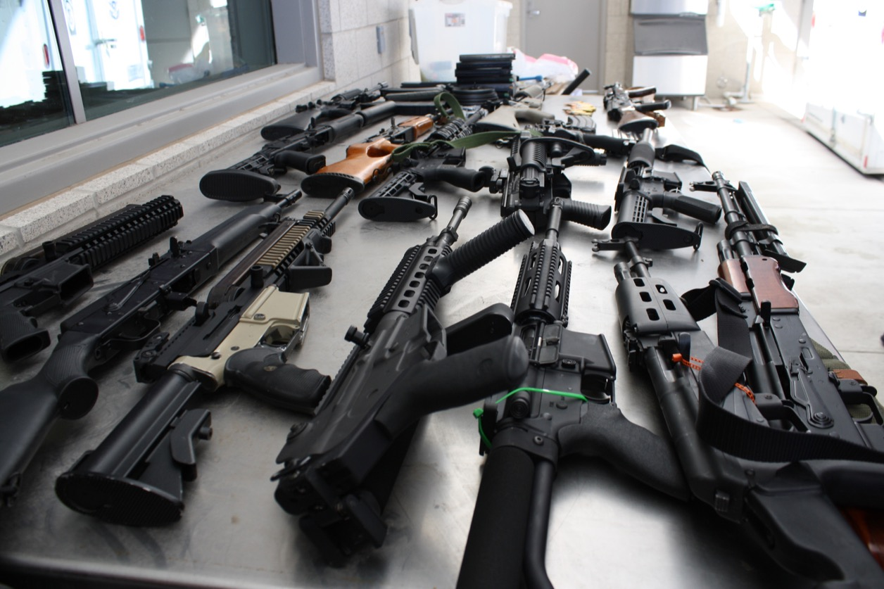 Image result for high powered rifles gangs
