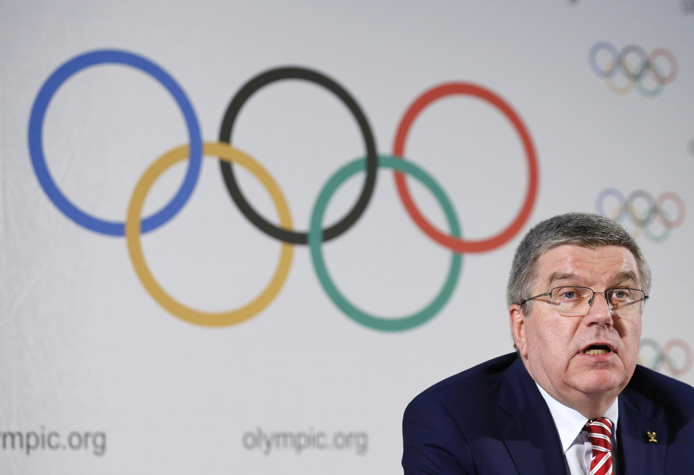 International Olympic Committee President Thomas Bach attends a news conference in Lausanne, Switzerland, June 3, 2016.