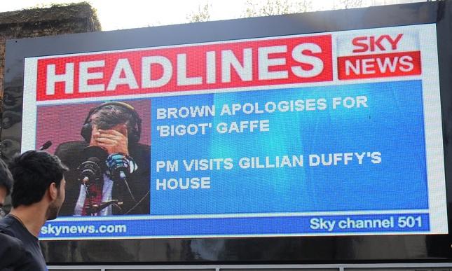 UK elections photos, Gordon Brown
