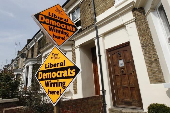 UK elections photos, Liberal Democrats