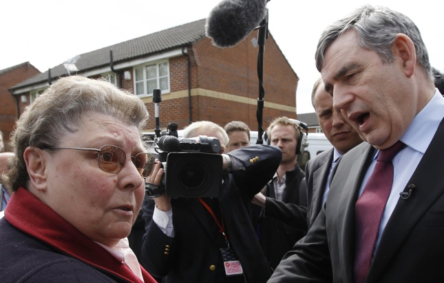 UK elections photos, Gordon Brown, gaffe