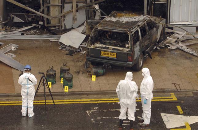 bombed truck