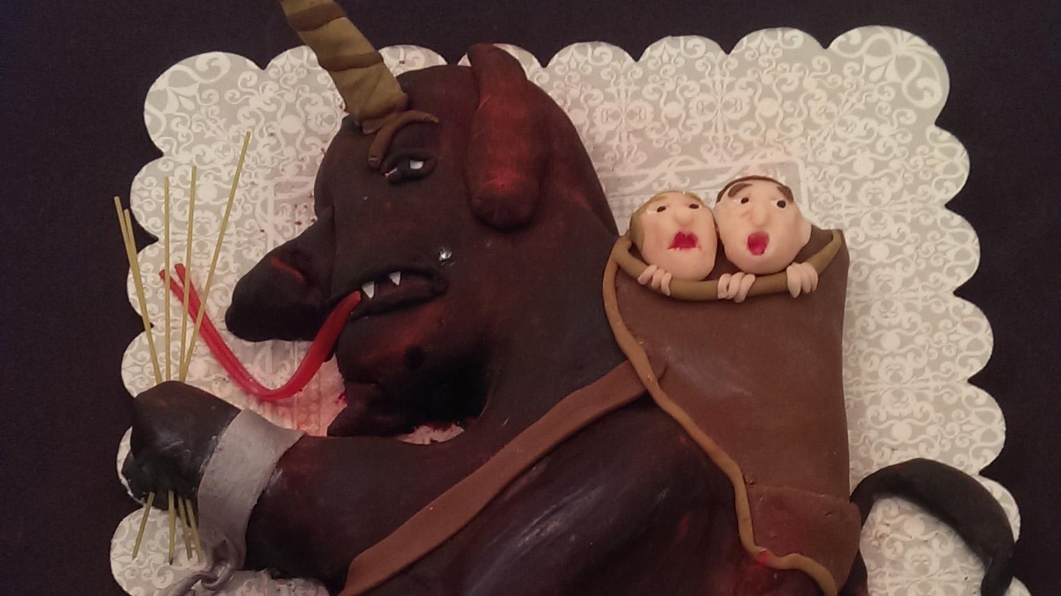 Krampus cake at Krampusfest.