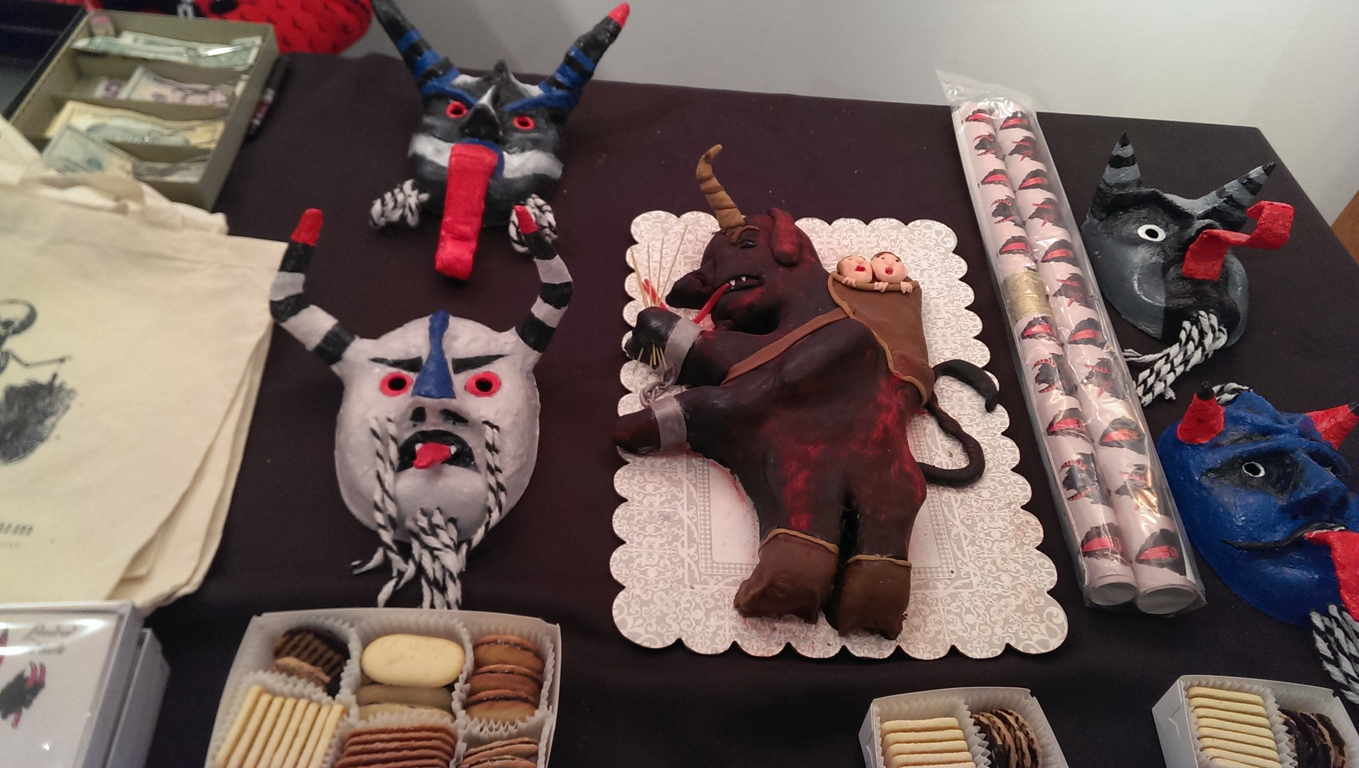 A Krampus cake at Krampusfest at the Morbid Anatomy Library in Brooklyn.