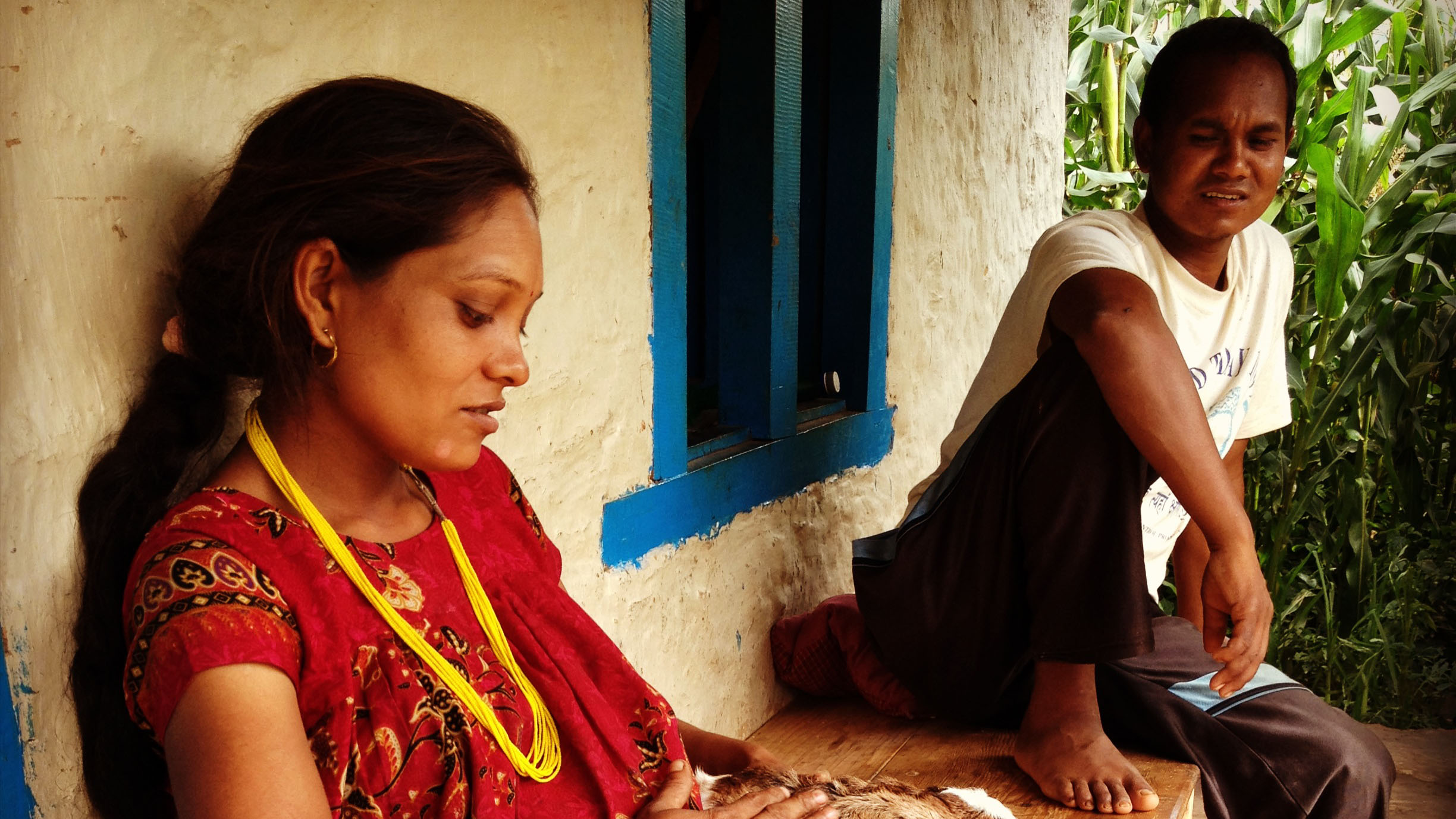 in the manual labor doesn t stop for expectant mothers januka rasaeli s husband madhav returned to the village to help his wife like many i men he couldn t work locally and had to work abroad