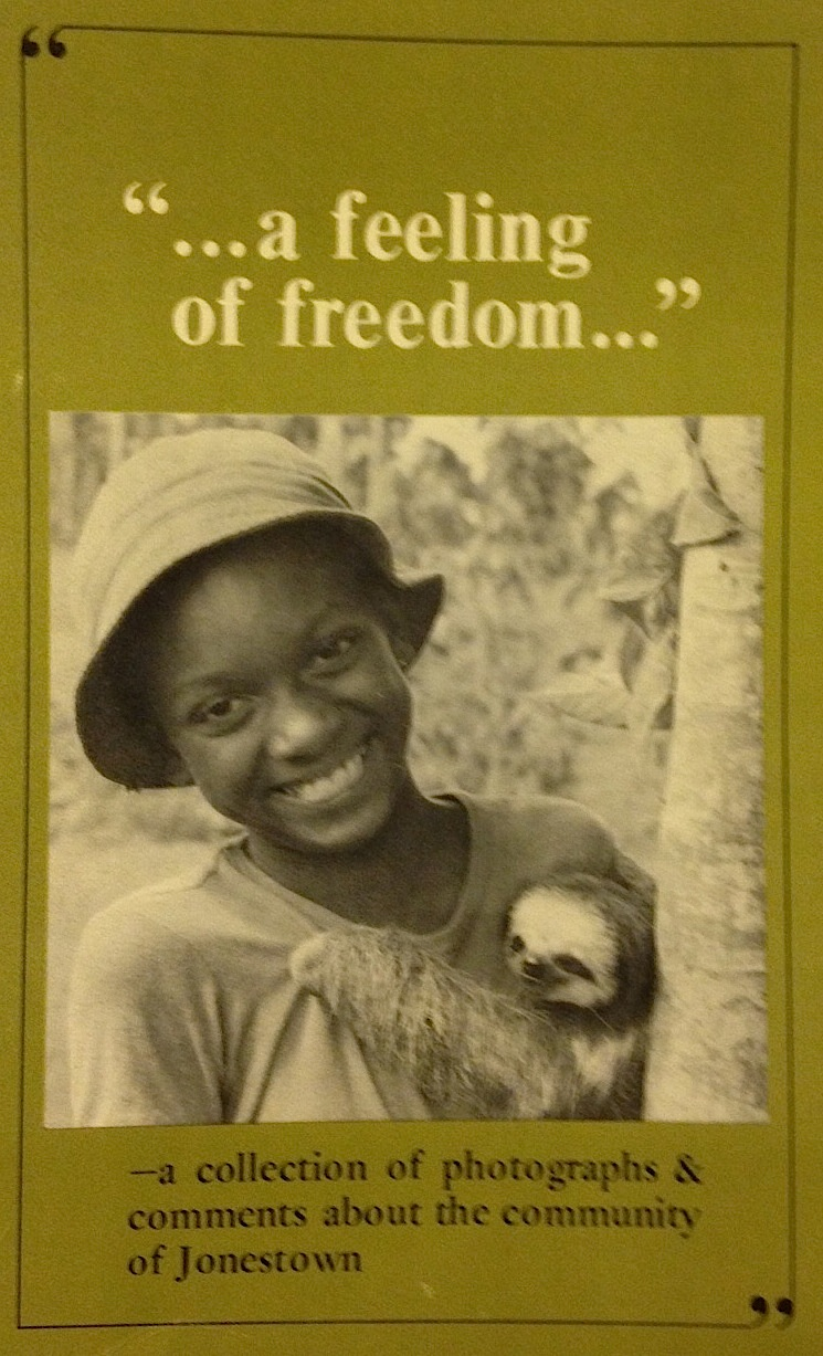Brochure produced by Peoples Temple, a moment started by the Rev. Jim Jones. In 1978 in Jonestown, Guyana,  920 people died at the Peoples Temple Agricultural Project, apparently of mass suicide.