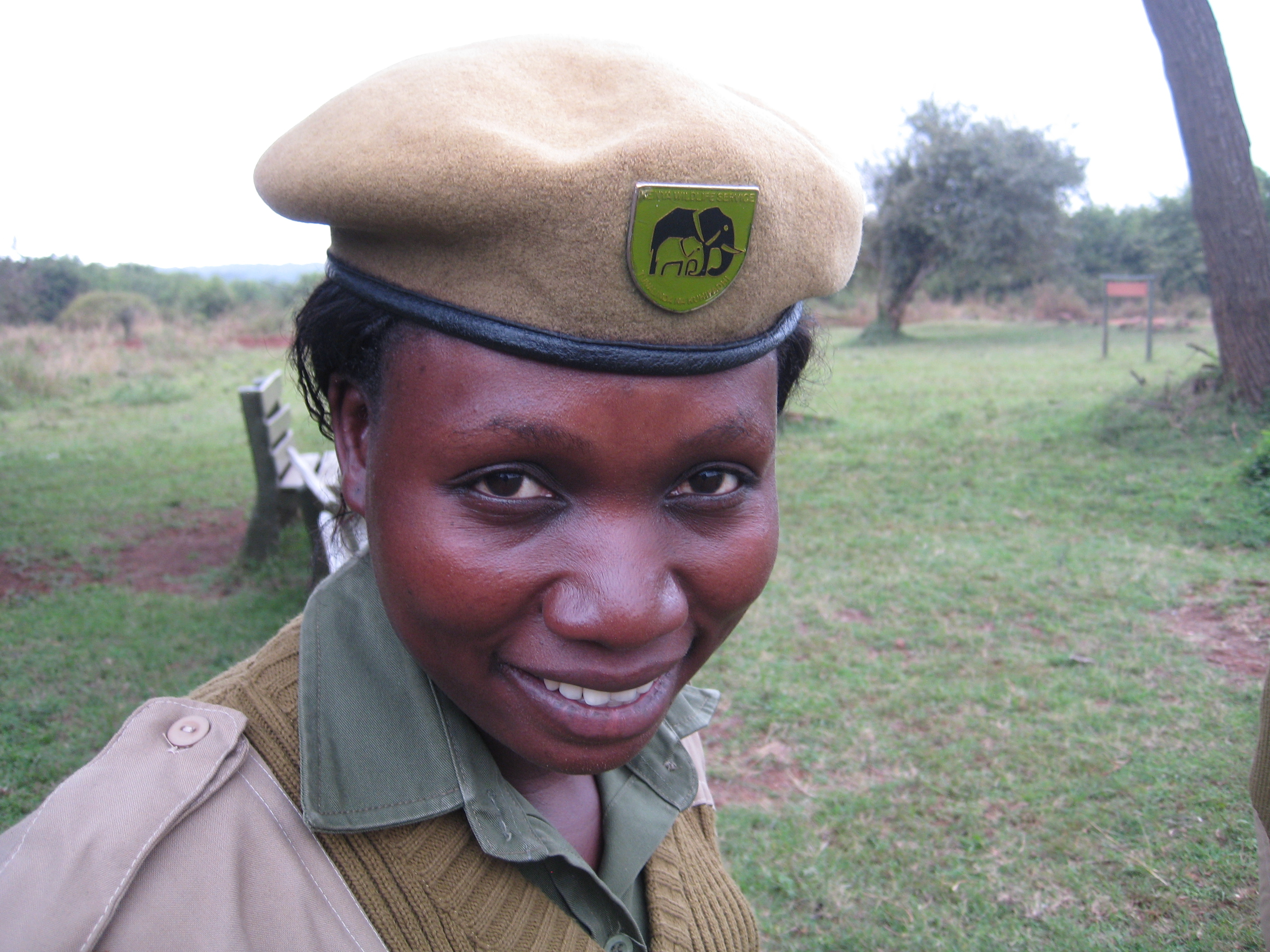 "Kenya Wildlife Service Ranger Mildred Oduor. Being a ranger ""gives you identity, it gives you your heritage,"" Oduor says."