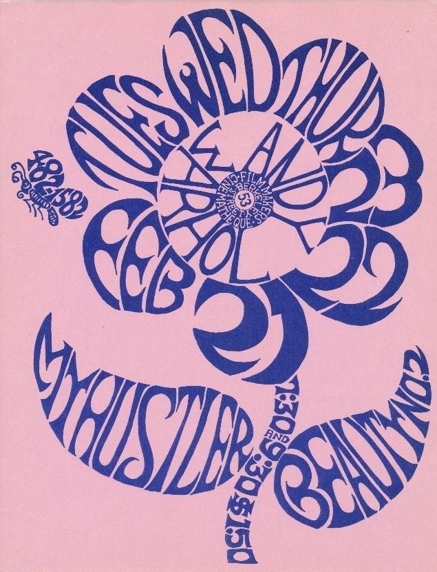 """A flyer priced at $2,500 advertising a showing of two Andy Warhol films (""""My Hustler"""" and """"Beauty No. 2"""") at the Filmmaker's Cinematheque, which took place in February 1967."""