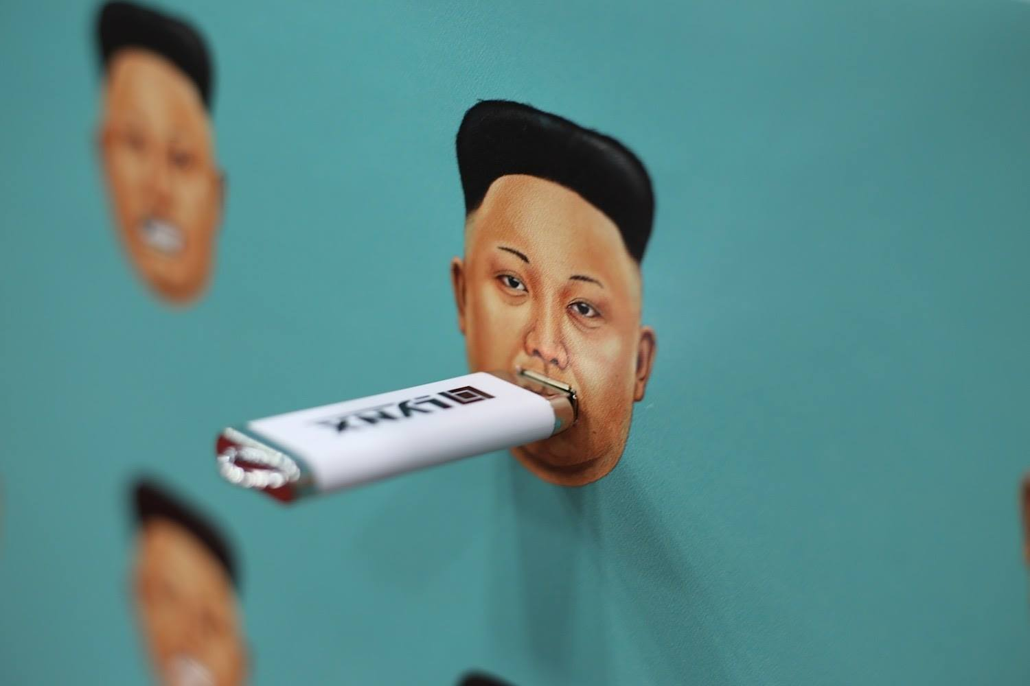 """""""The exhibit is a metaphor: By donating your flash drive and plugging it into Kim Jong-un's face, you are helping to silence his propaganda machine by giving the North Korean people a window to the outside world."""""""