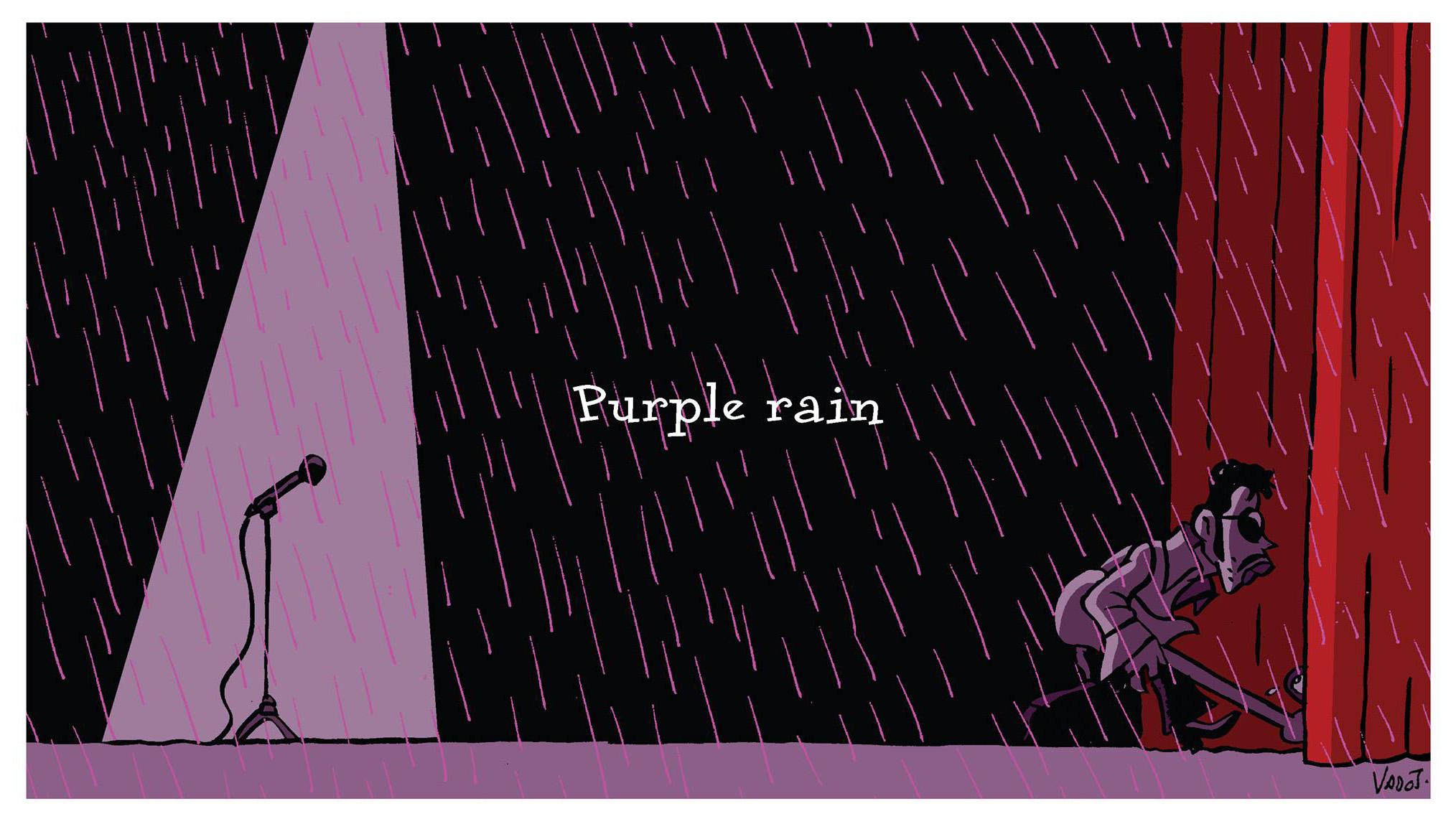 Nicolas Vadot's cartoon remembering Prince