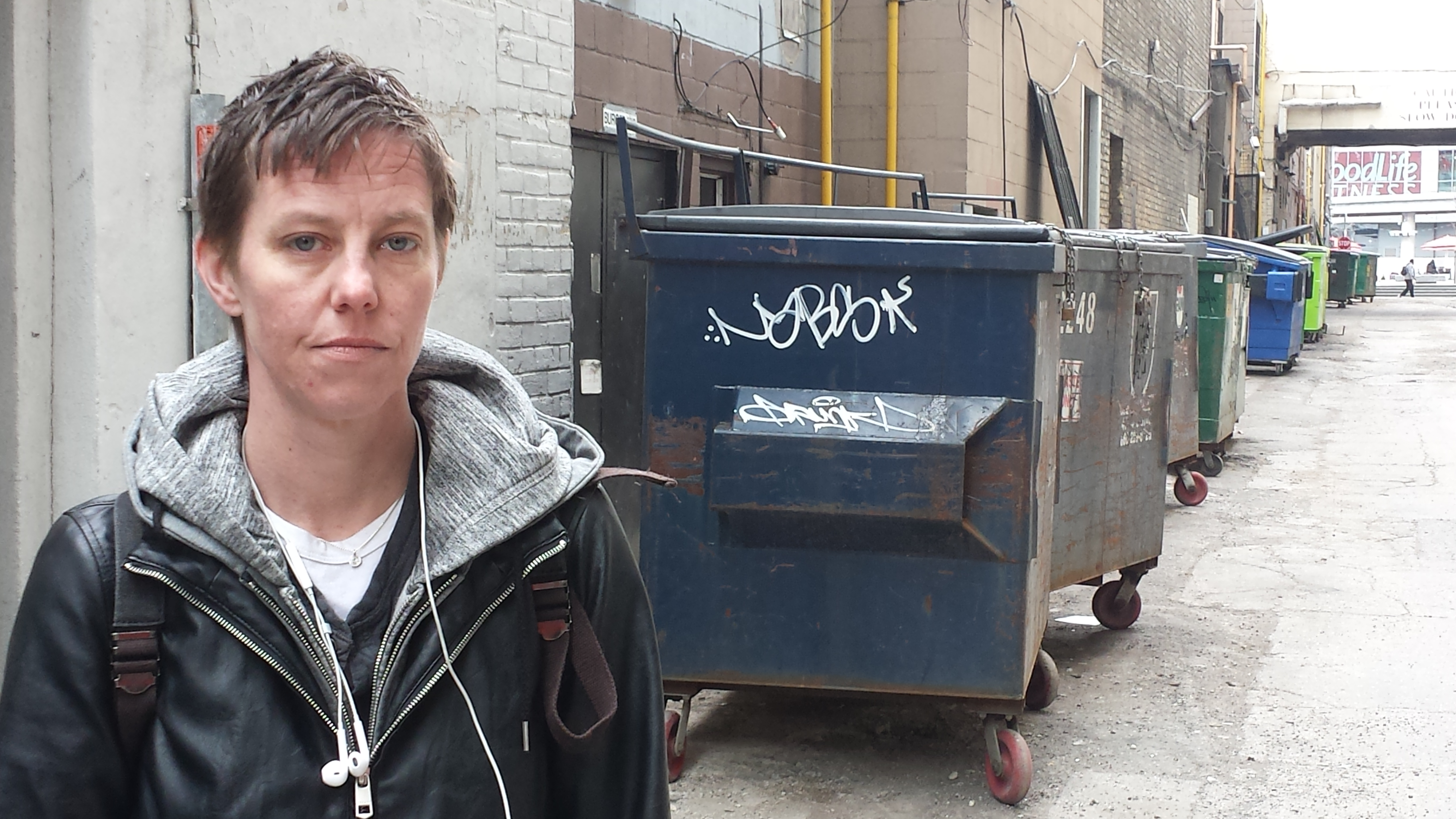 Amy Wright used to shoot up in alleys like this in downtown Toronto. Now she's helping the city design its safe injection sites.