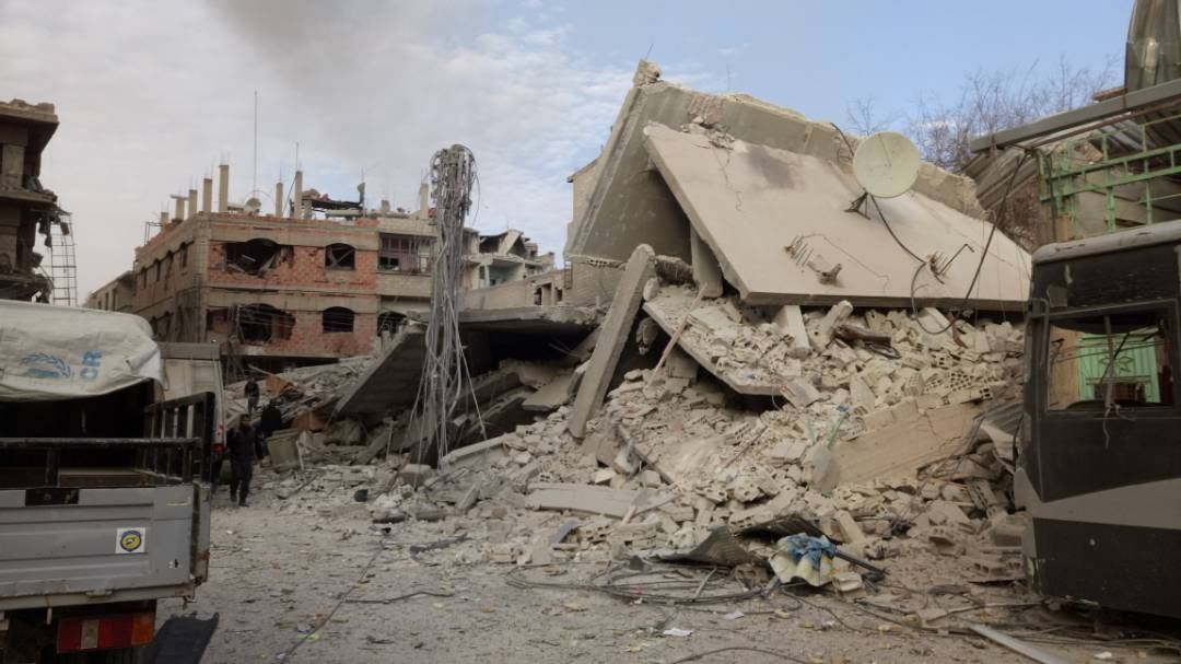 'They are trying to to kill us all.' Desperate Syrians plead for help in Eastern Ghouta.