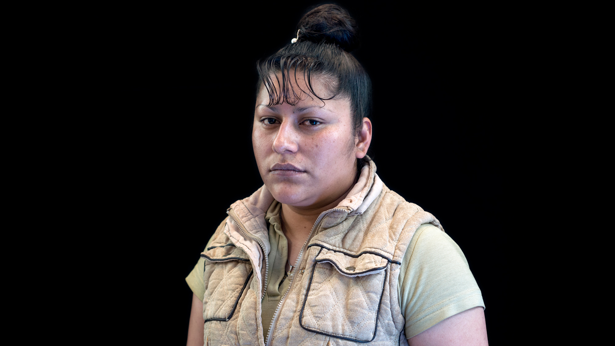 A portrait of inmate Carmela Rodriguez Reyes in Mexico.