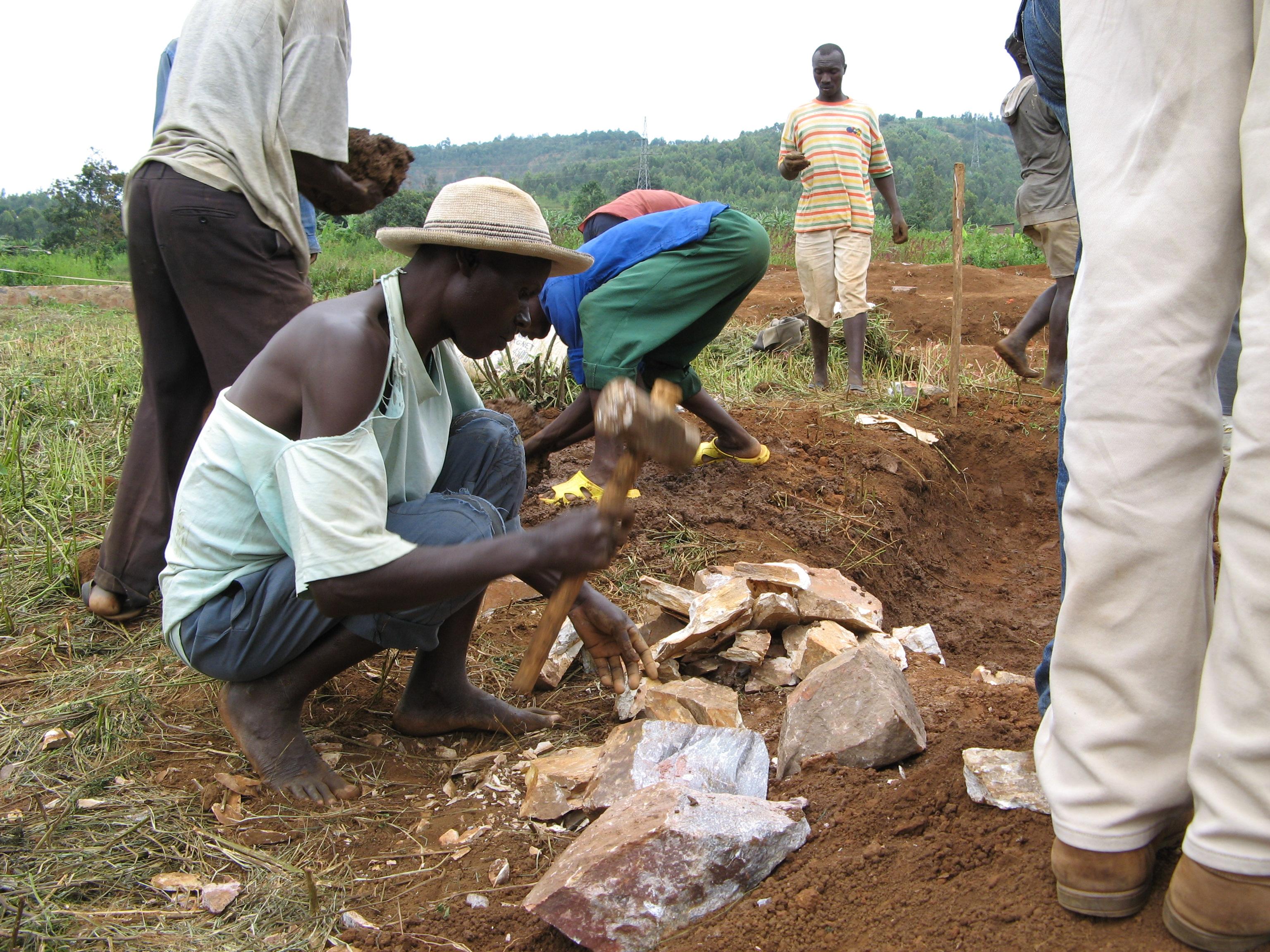 A TIG camp outside Kigali, Rwanda.