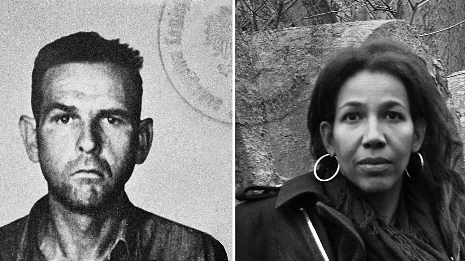 Side by side shot of Amon Goeth and his granddaughter Jennifer Teege.