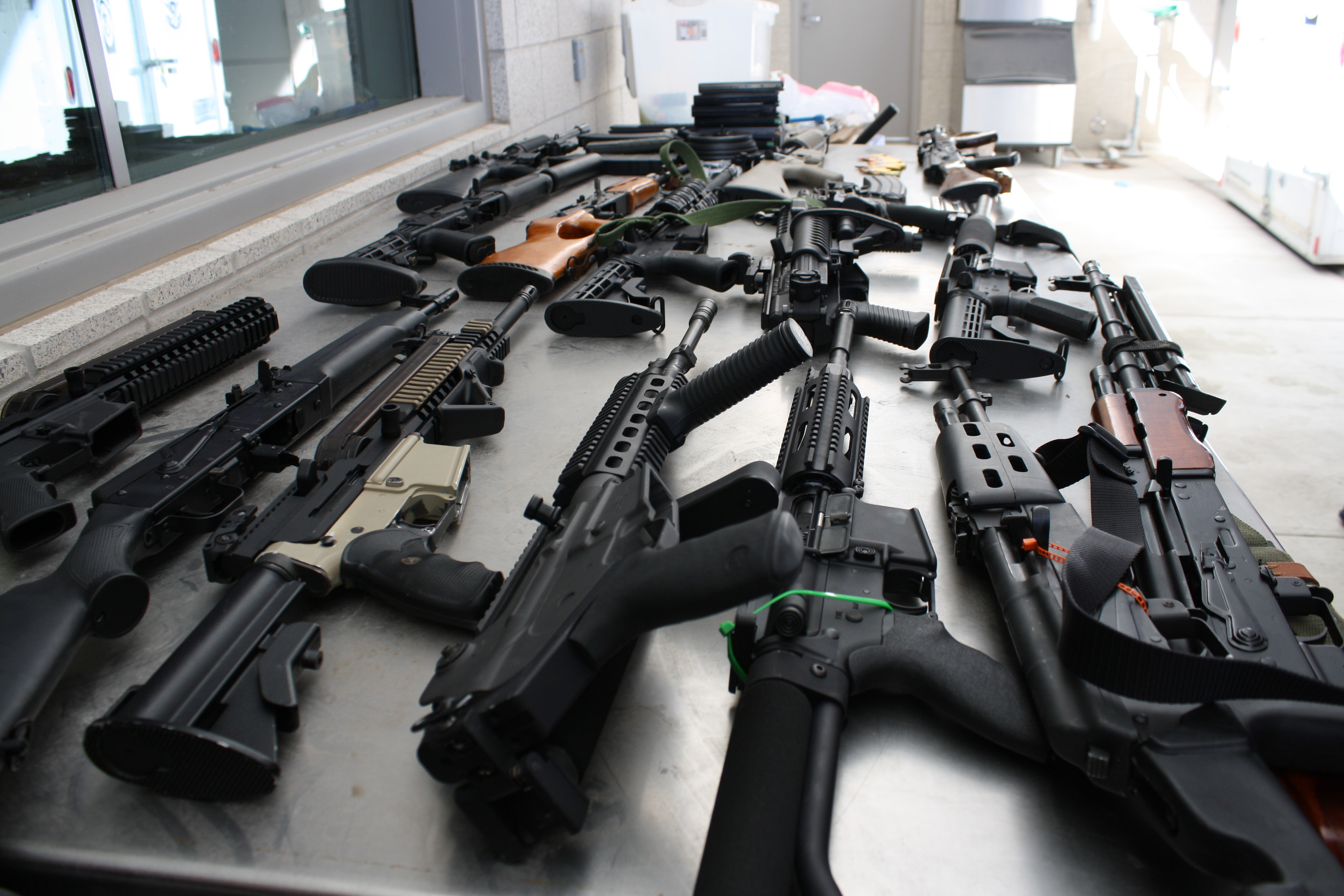 Image result for cache of confiscated gang weapons in the US
