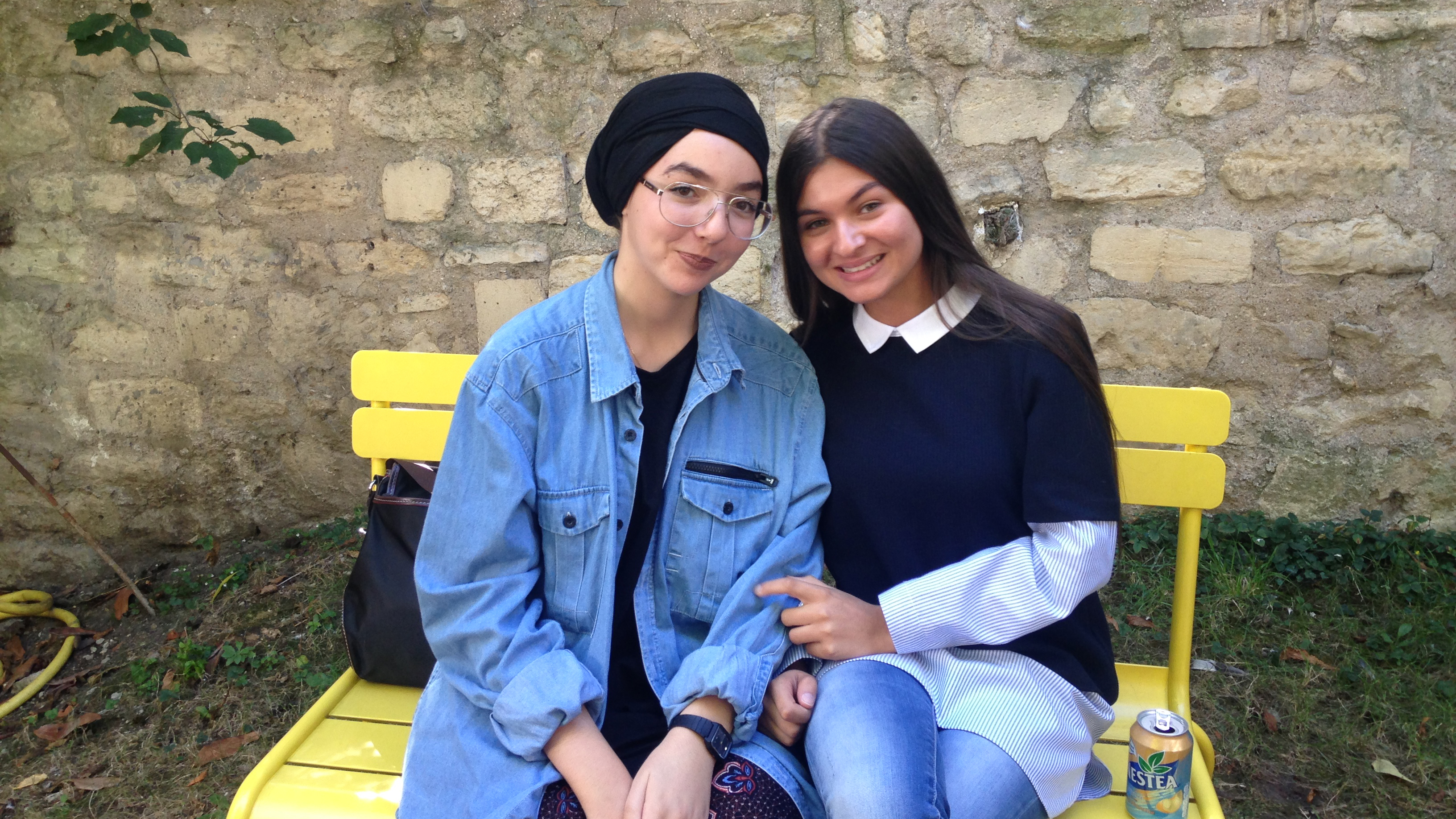 Sirine Bidjou (right) and Hanifa Benrahou (left) are both students at Sciences Po, which they entered through the CEP program. It's France's answer to American-style affirmative action.