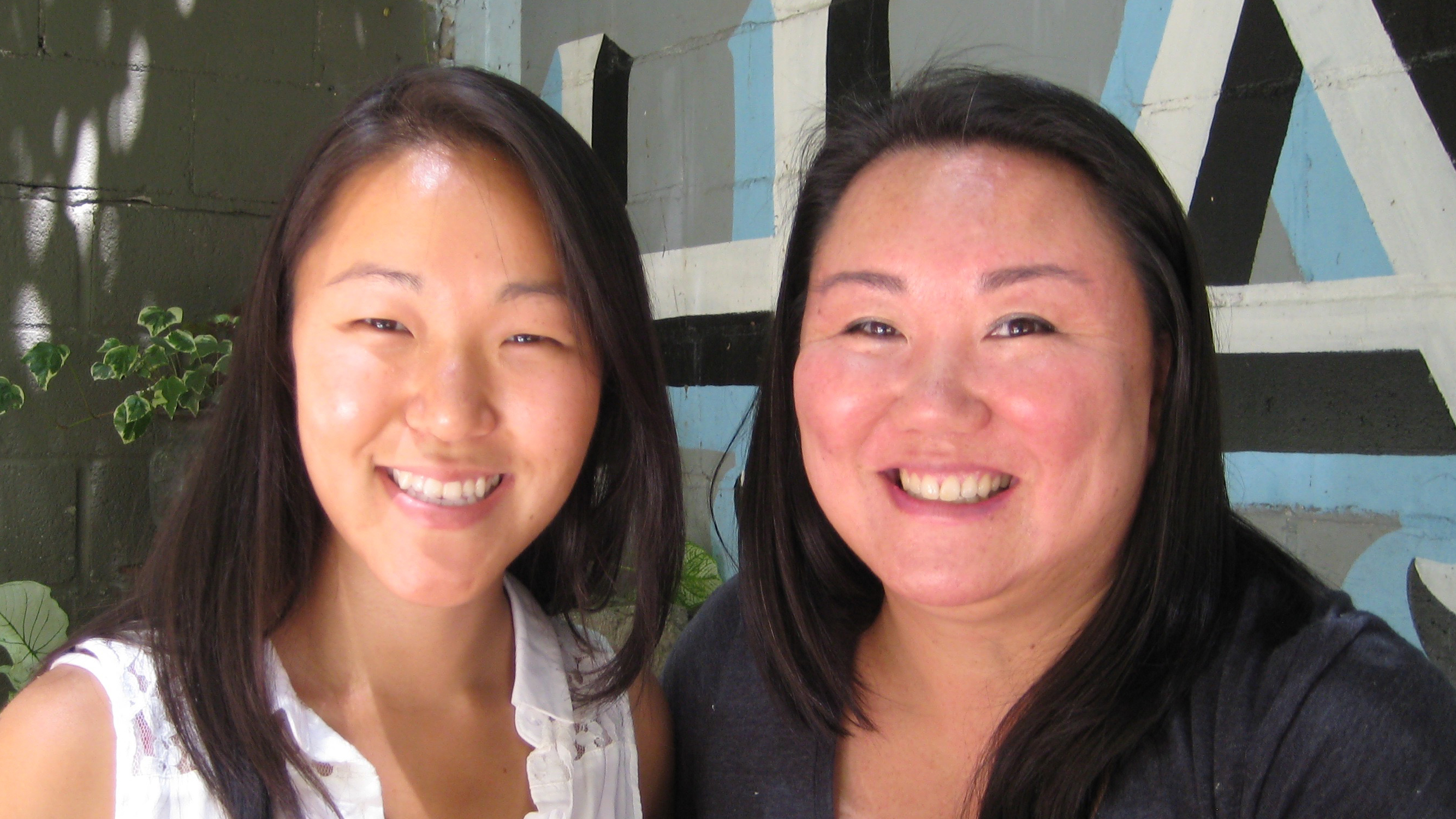 Kaomi Goetz, 44, (r) with distant relative, Alice Thompson, 28. They're both Korean-American adoptees who found a shared genetic connection on a DNA database, after they had met by chance at a gathering for adoptees in Brooklyn, New York. Kaomi is still t