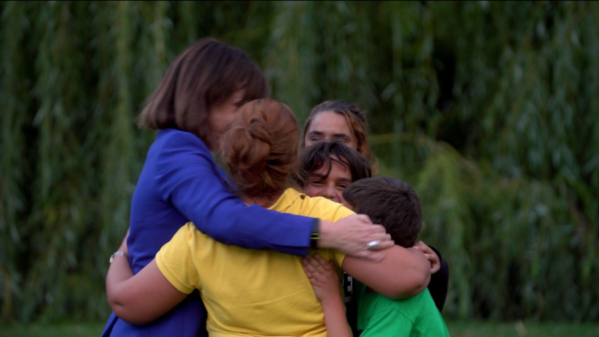 Lyse Doucet reunited with the Sabbagh family in a Toronto park