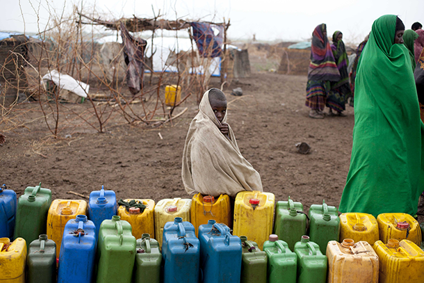 Ethiopian drought/water jugs
