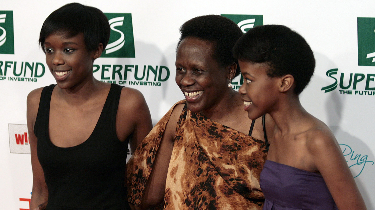 Esther Mujawayo and her daughters Amelia and Amanda.