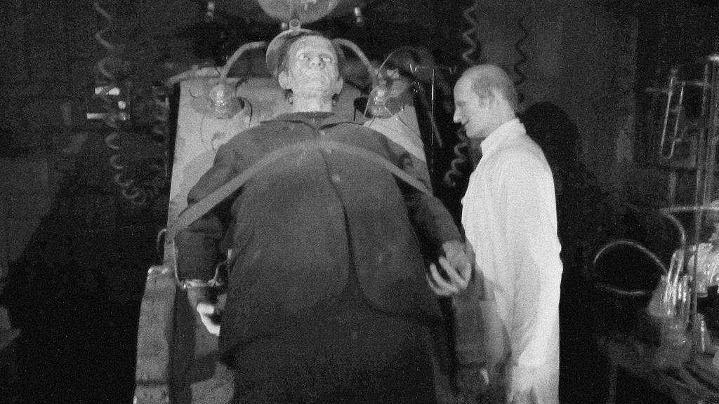 Doctor Frankenstein and his monster, depicted here at the Movieland Wax Museum in Niagara Falls, Canada, have become a fixture of Halloween lore.
