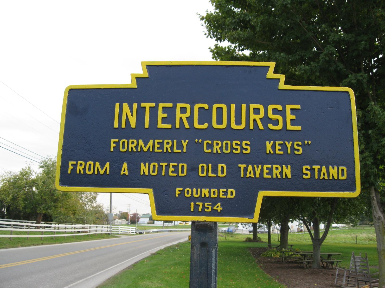 Keystone Marker in Intercourse, Pennsylvania