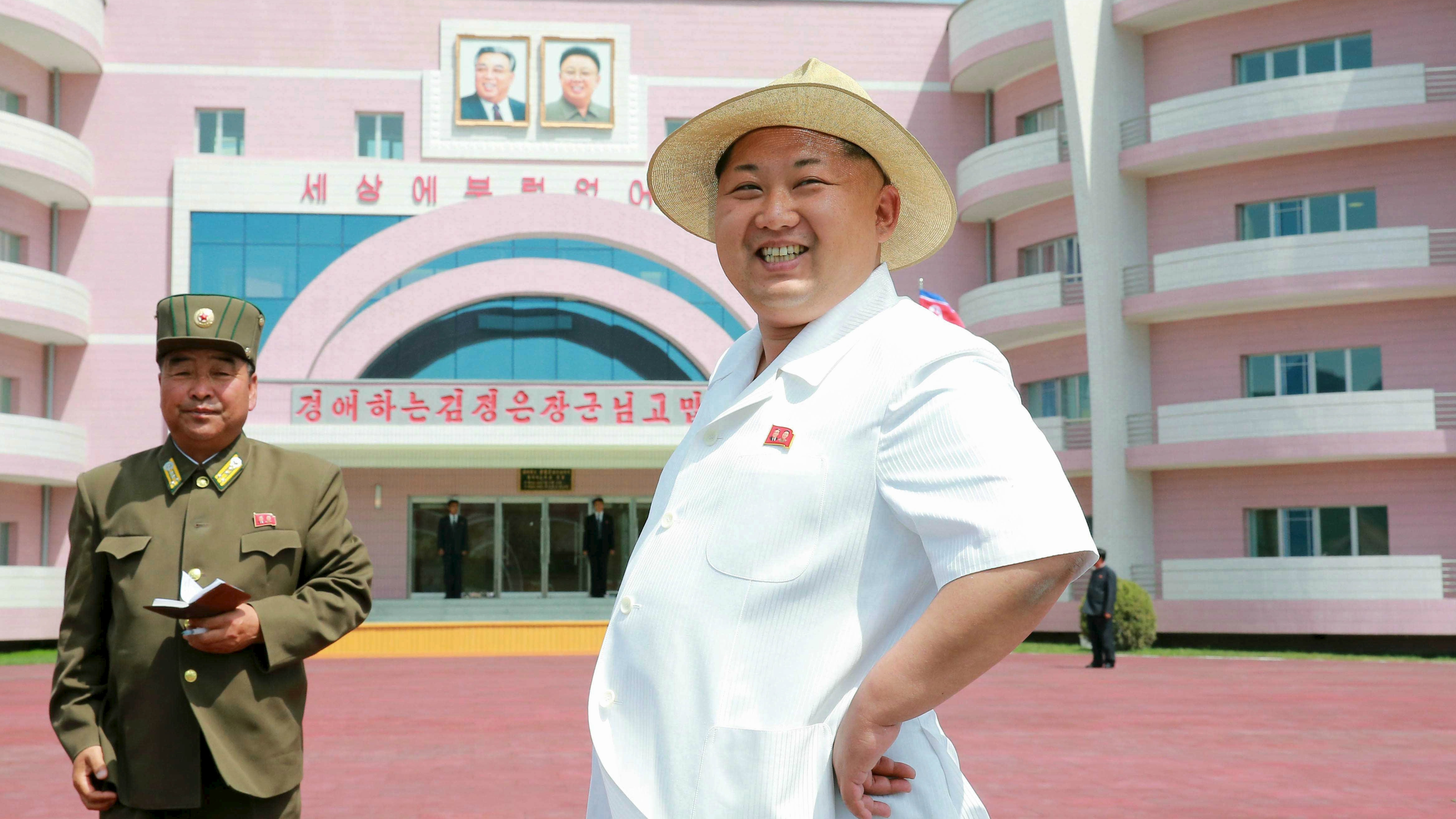North Korean leader Kim Jong Un provides field guidance to the Wonsan Baby Home and Orphanage in the run-up to a ceremony for their completion, in this undated photo released by North Korea's Korean Central News Agency (KCNA) June 2, 2015.