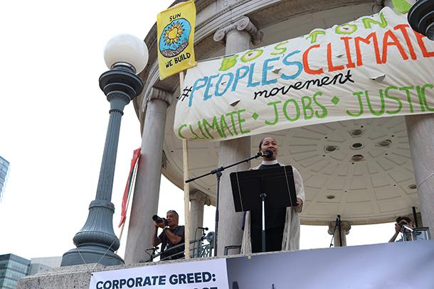 Rev. Hammond climate march