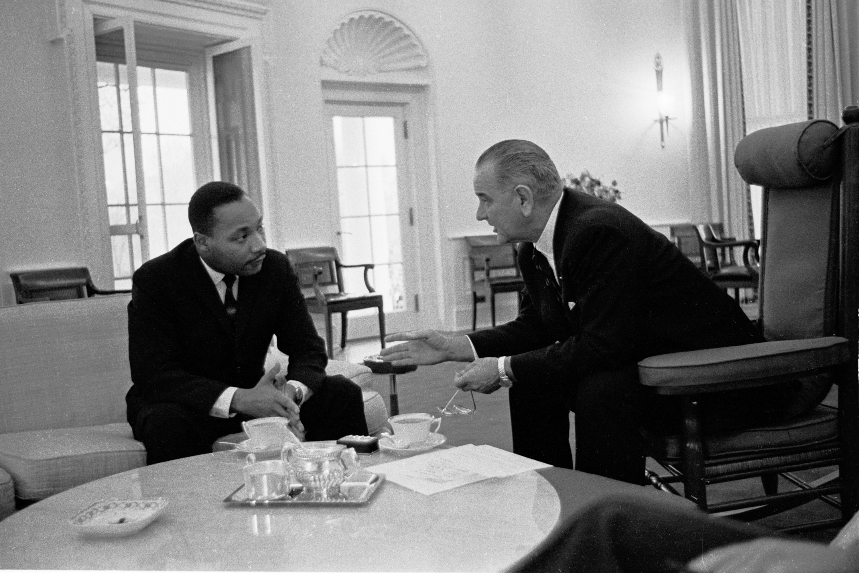 MLK LBJ White House 1963