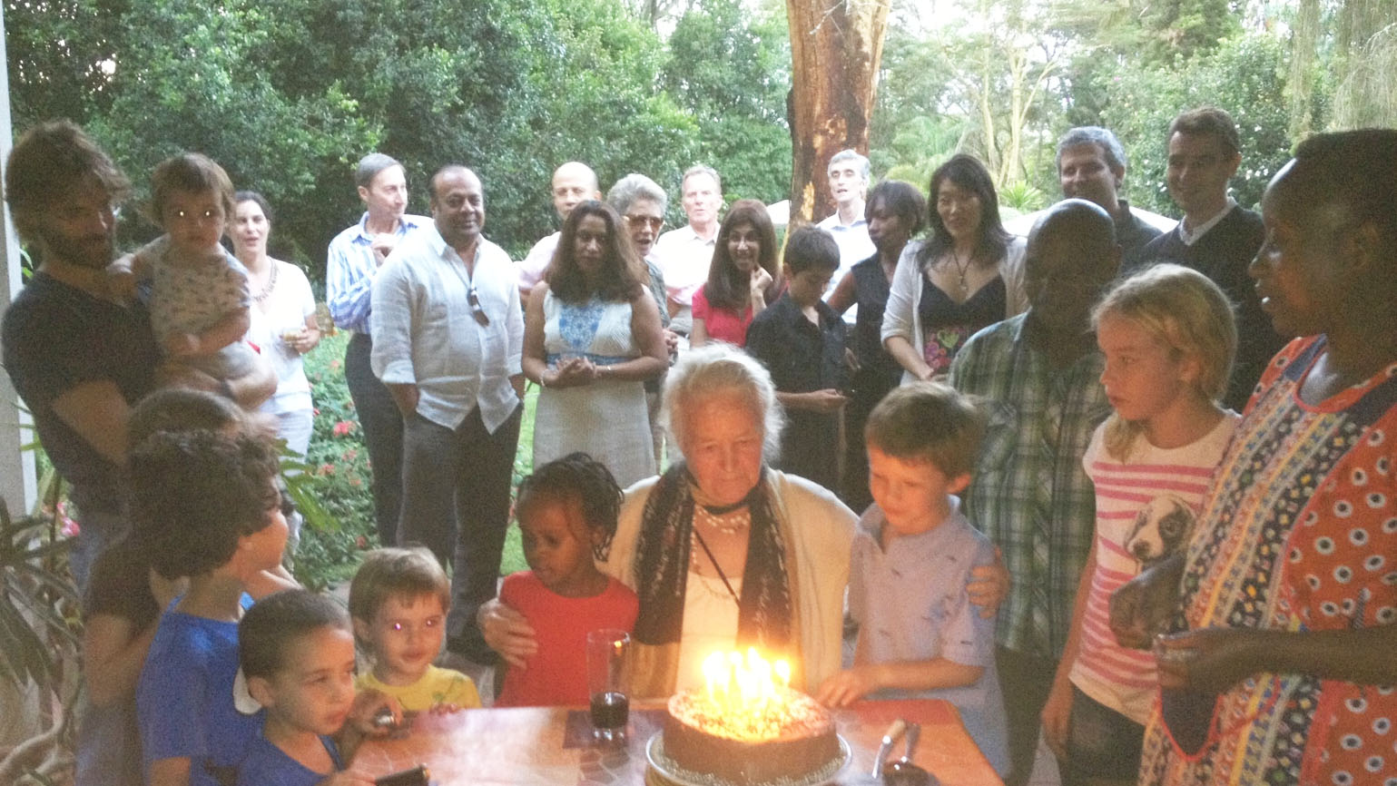 The author's mother celebrates her 93rd birthday in Kenya