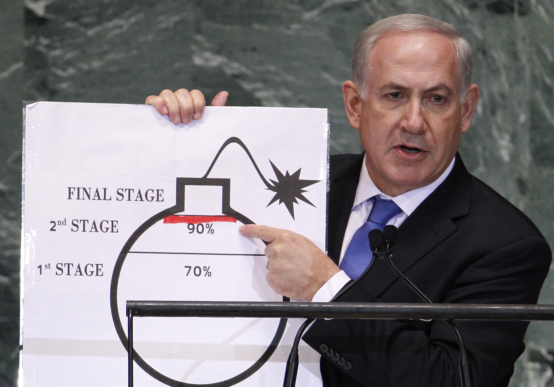 Benjamin Netanyahu at the UN in September 2012.