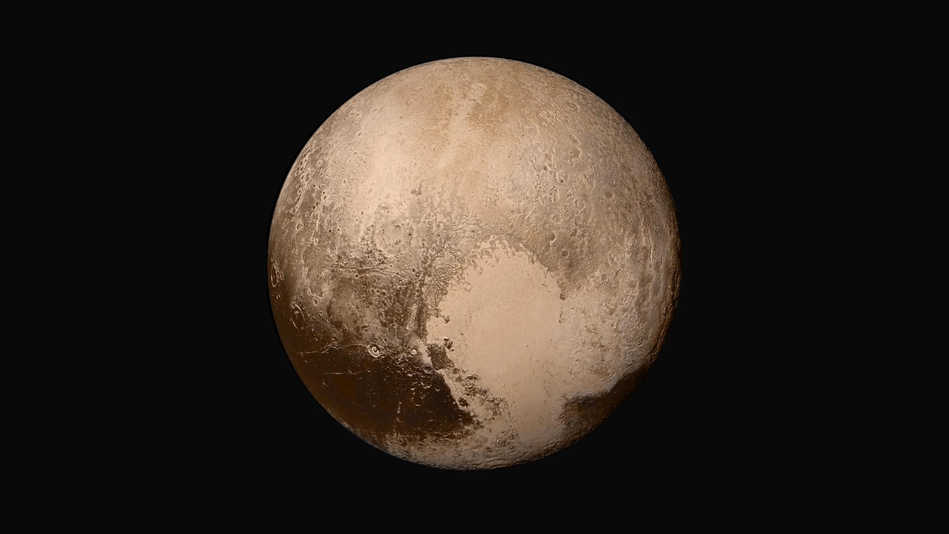 A true-color image of Pluto