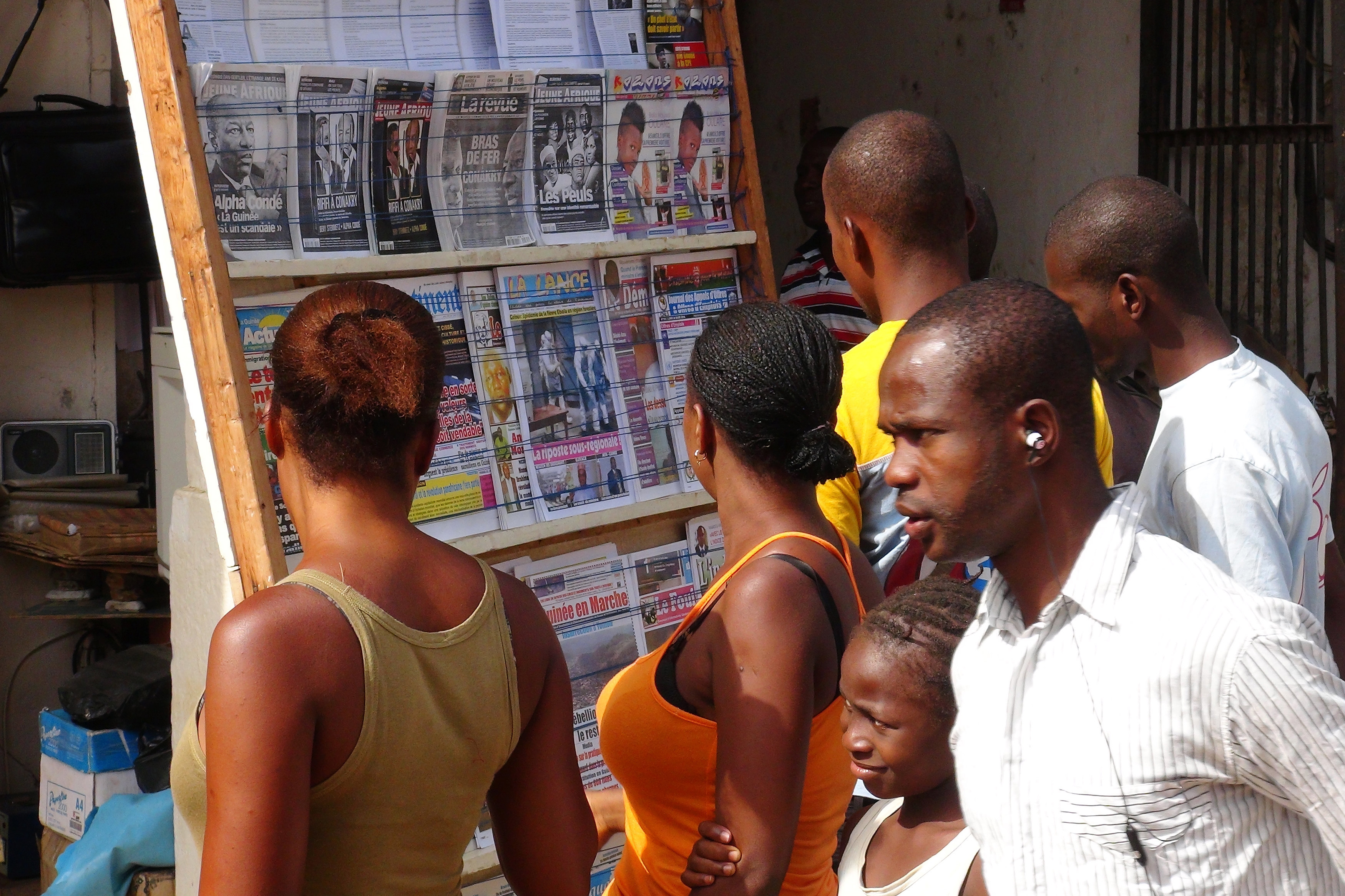 News of the spread of the ebola virus has residents of Guinea's capital Conakry on edge.