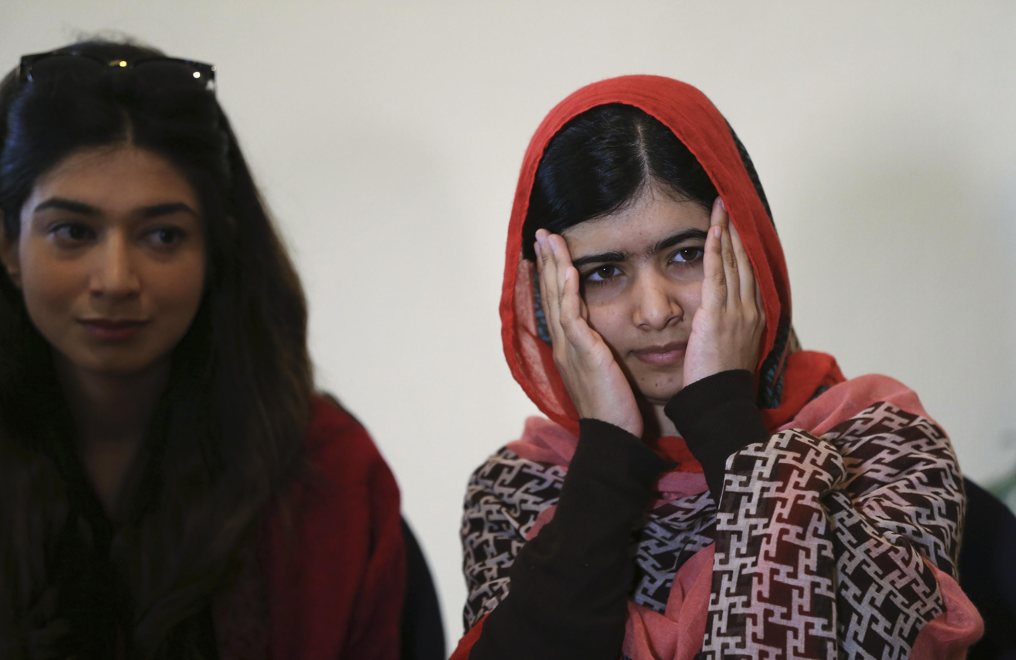 Malala Yousafzai during trip to Nigeria July 2014
