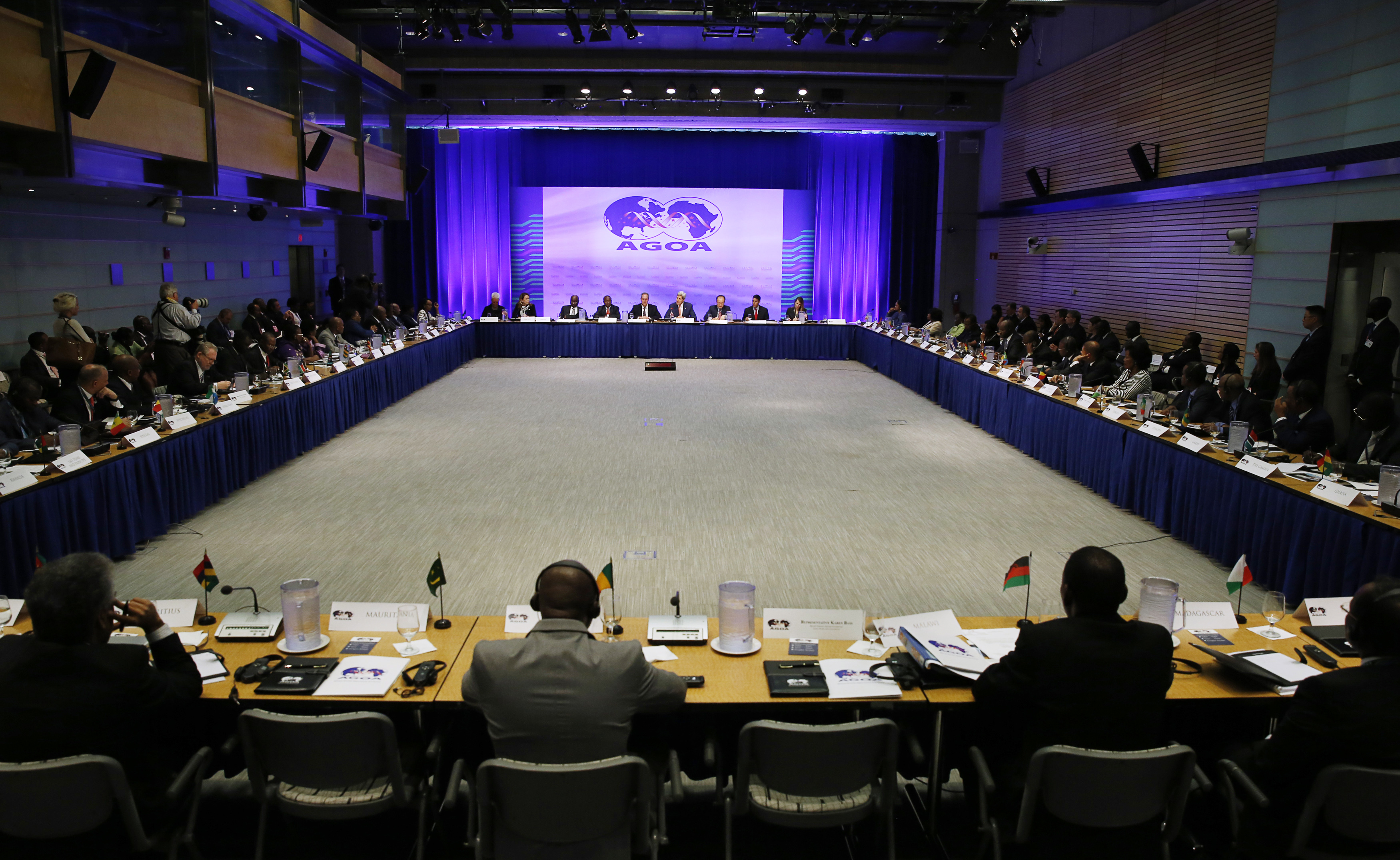 Representatives from various African nations gather at the opening session at the AGOA Forum during the US-Africa Leaders Summit in Washington August 4, 2014.
