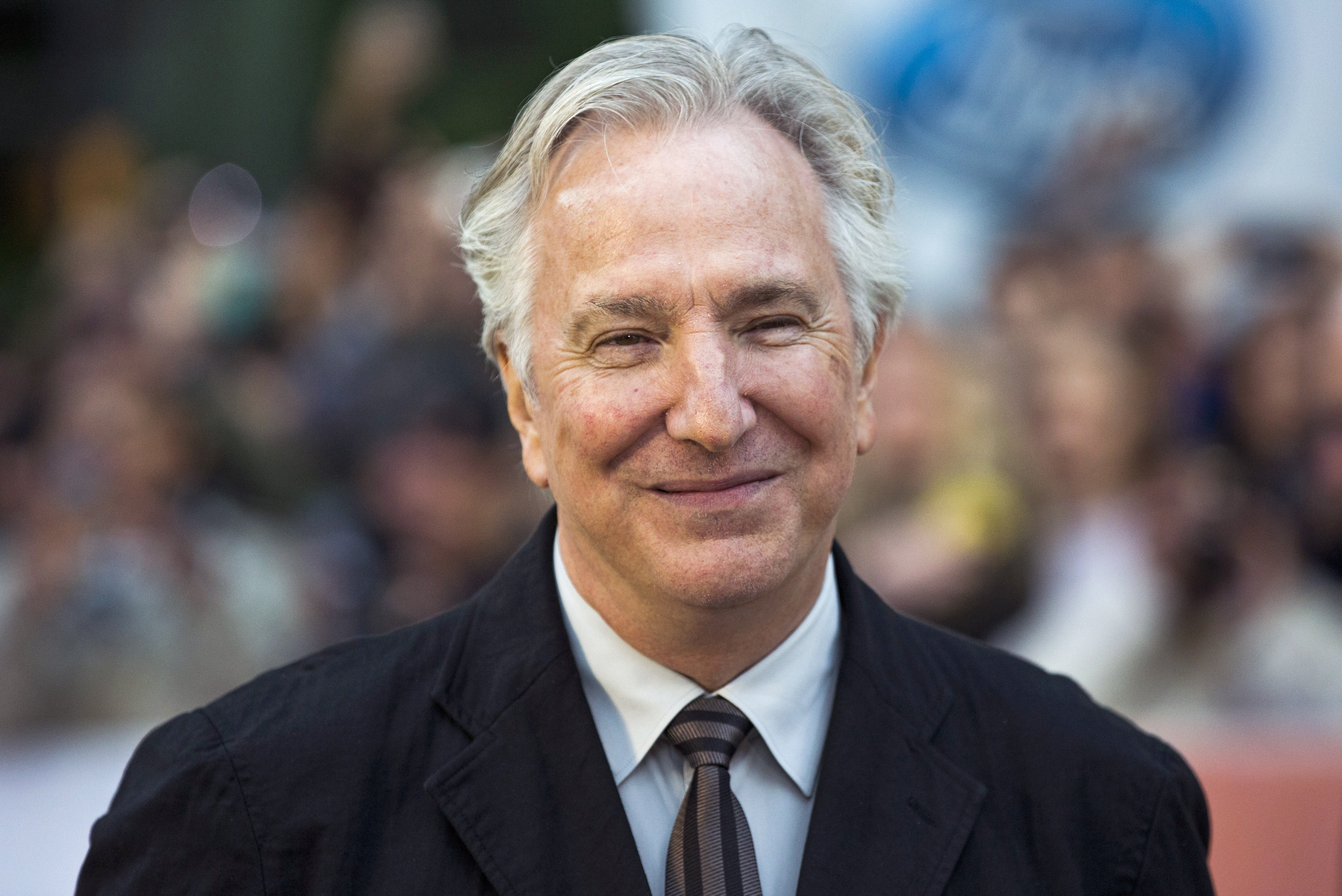 """Director Alan Rickman arrives for the """"A Little Chaos"""" gala during the Toronto International Film Festival."""