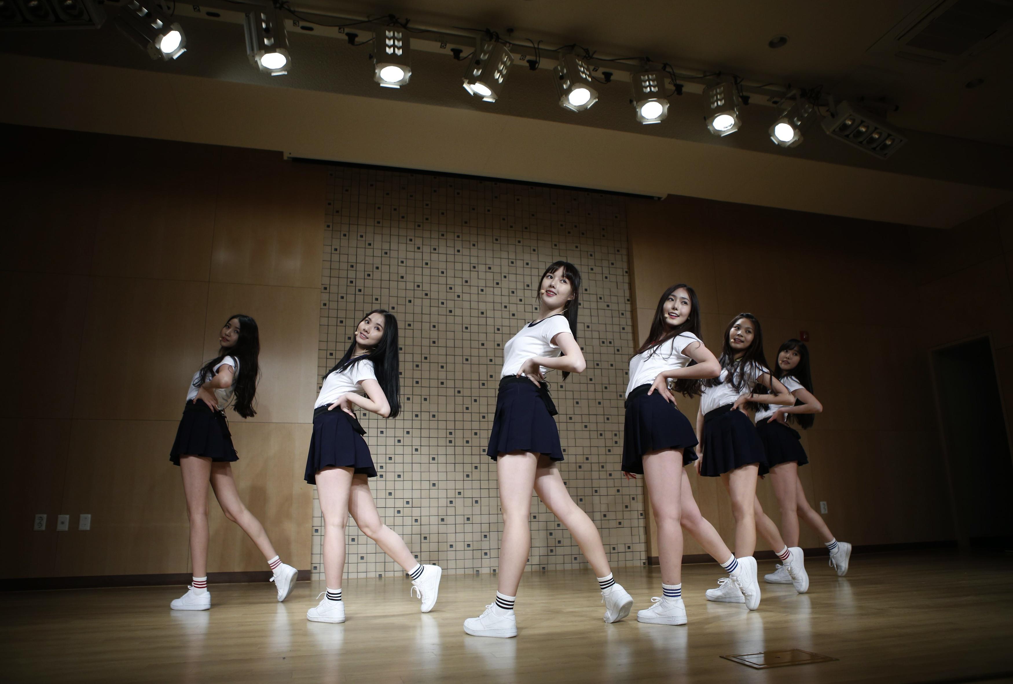 South Korean girl group GFriend rehearse in Seoul