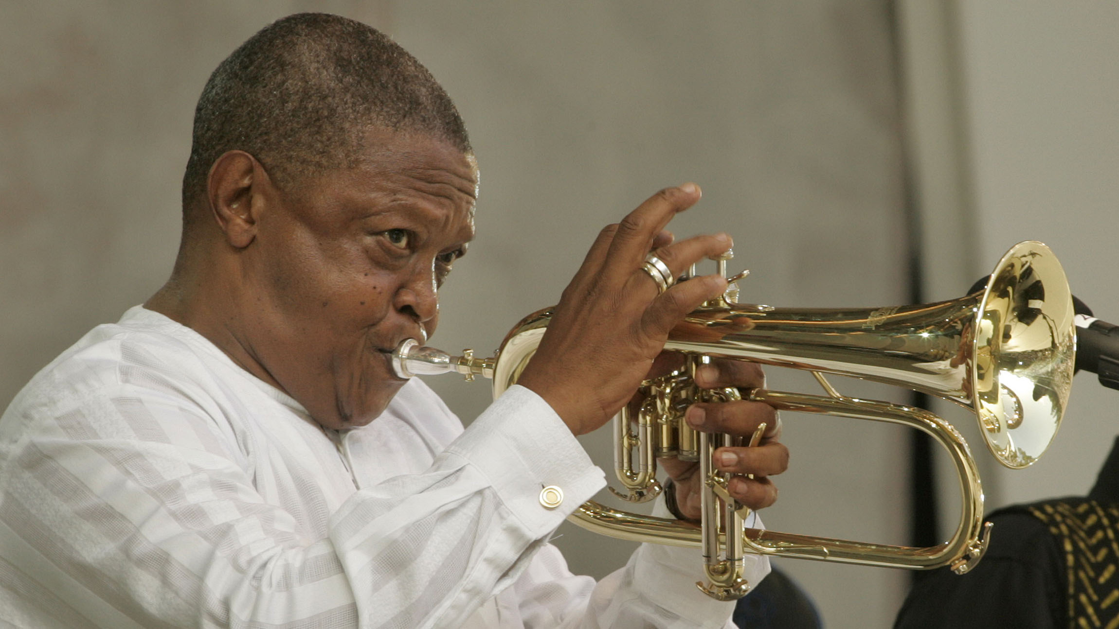 Late South African jazz great Hugh Masekela,