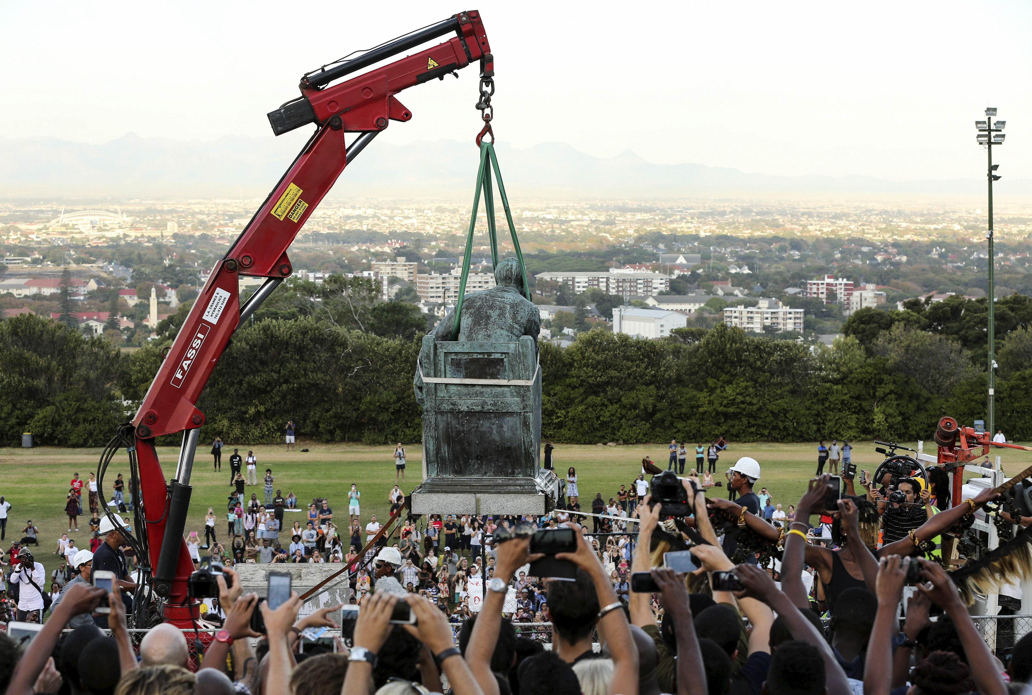 Removing racist statues is 'taking history to task' in South Africa