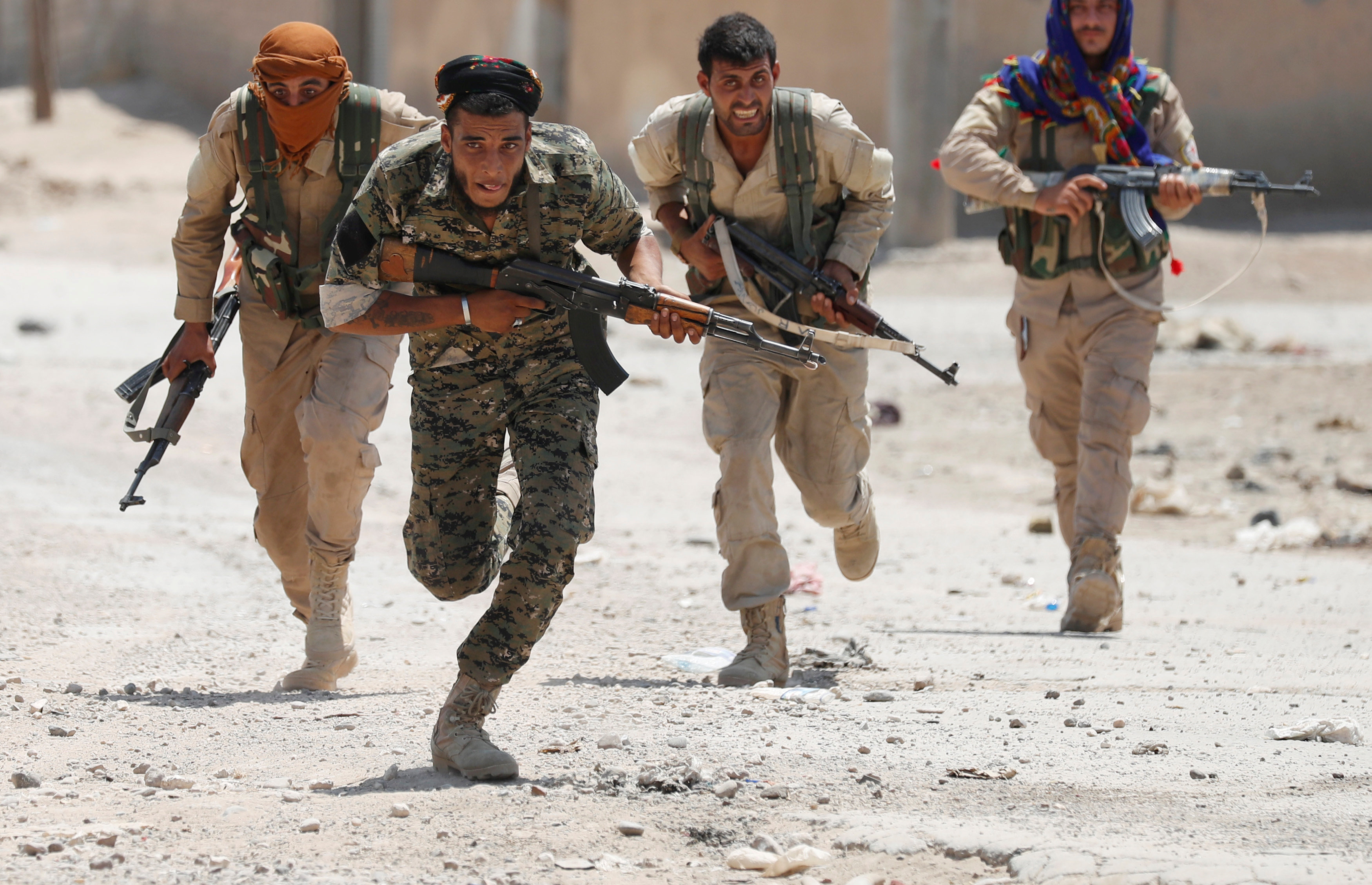 Fighting continues in Syria, where Kurdish troops from the People's Protection Units are facing down ISIS militants in Raqqa, Syria.