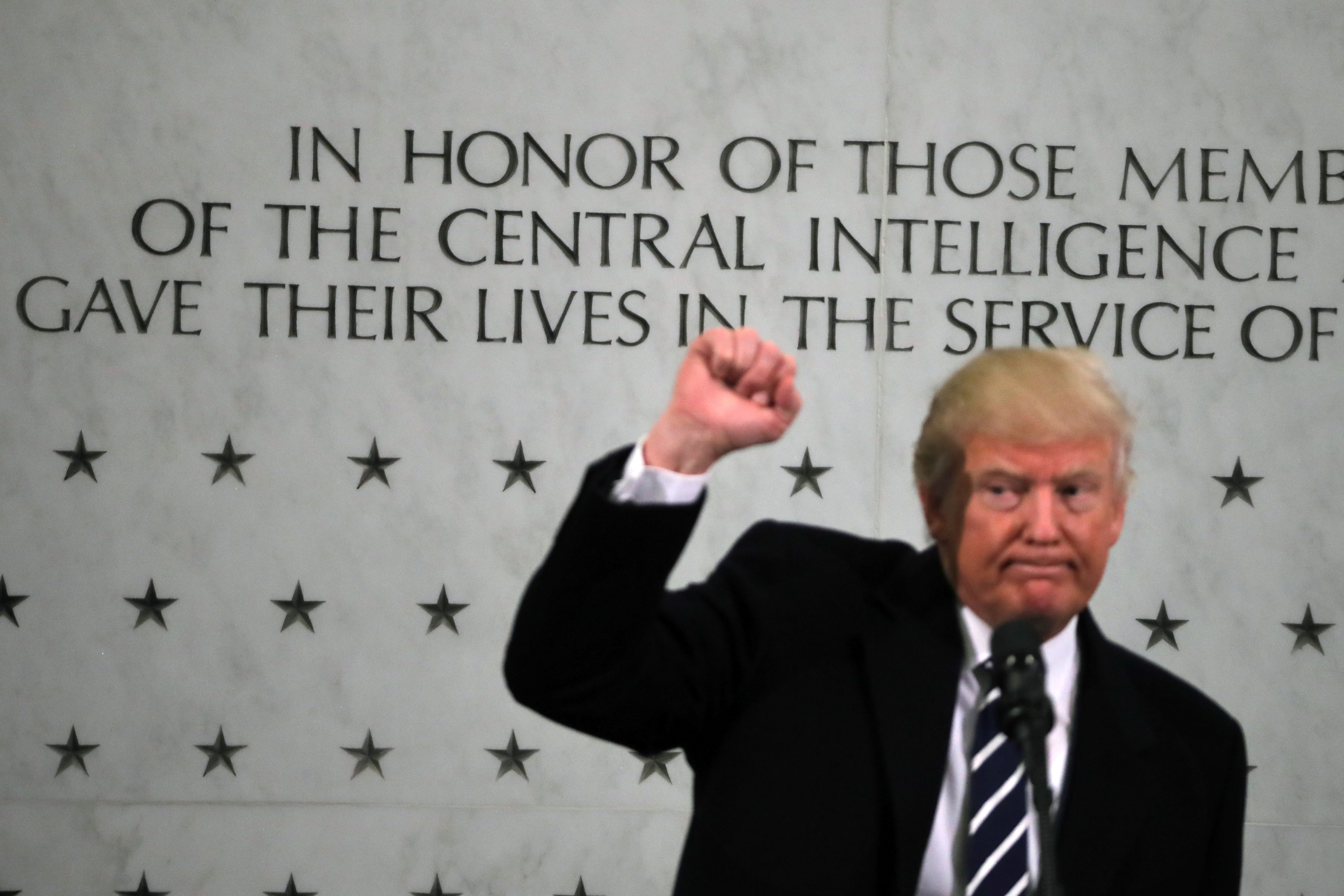 When President Trump spoke at CIA headquarters in Langley, Virginia in January, he reportedly brought along his own staff to clap and cheer.