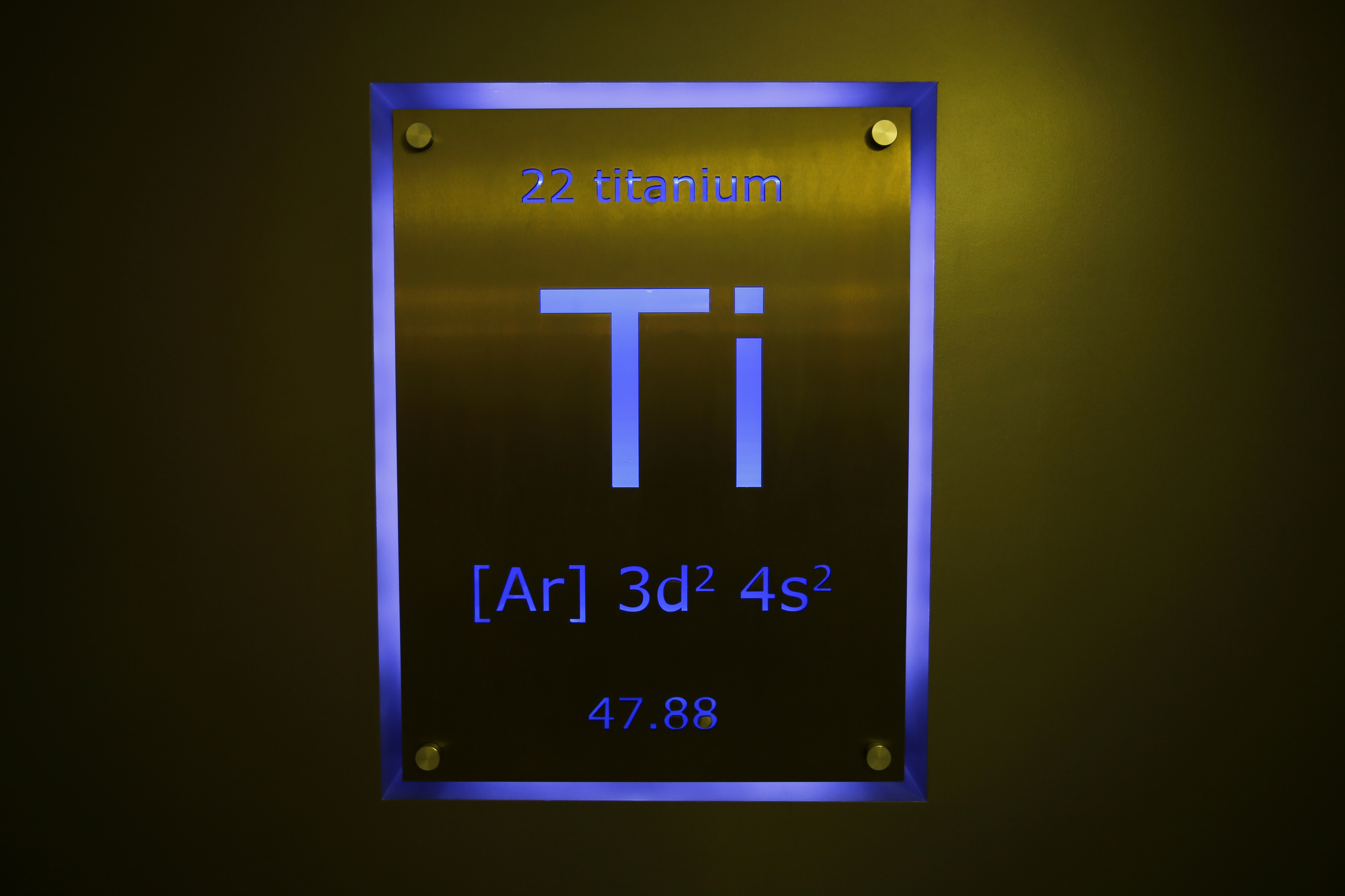 Desperately seeking names for new elements public radio a sign showing titanium on the periodic table of elements is seen at the nobel biocare manufacturing facility in yorba linda california may 16 2013 gamestrikefo Gallery