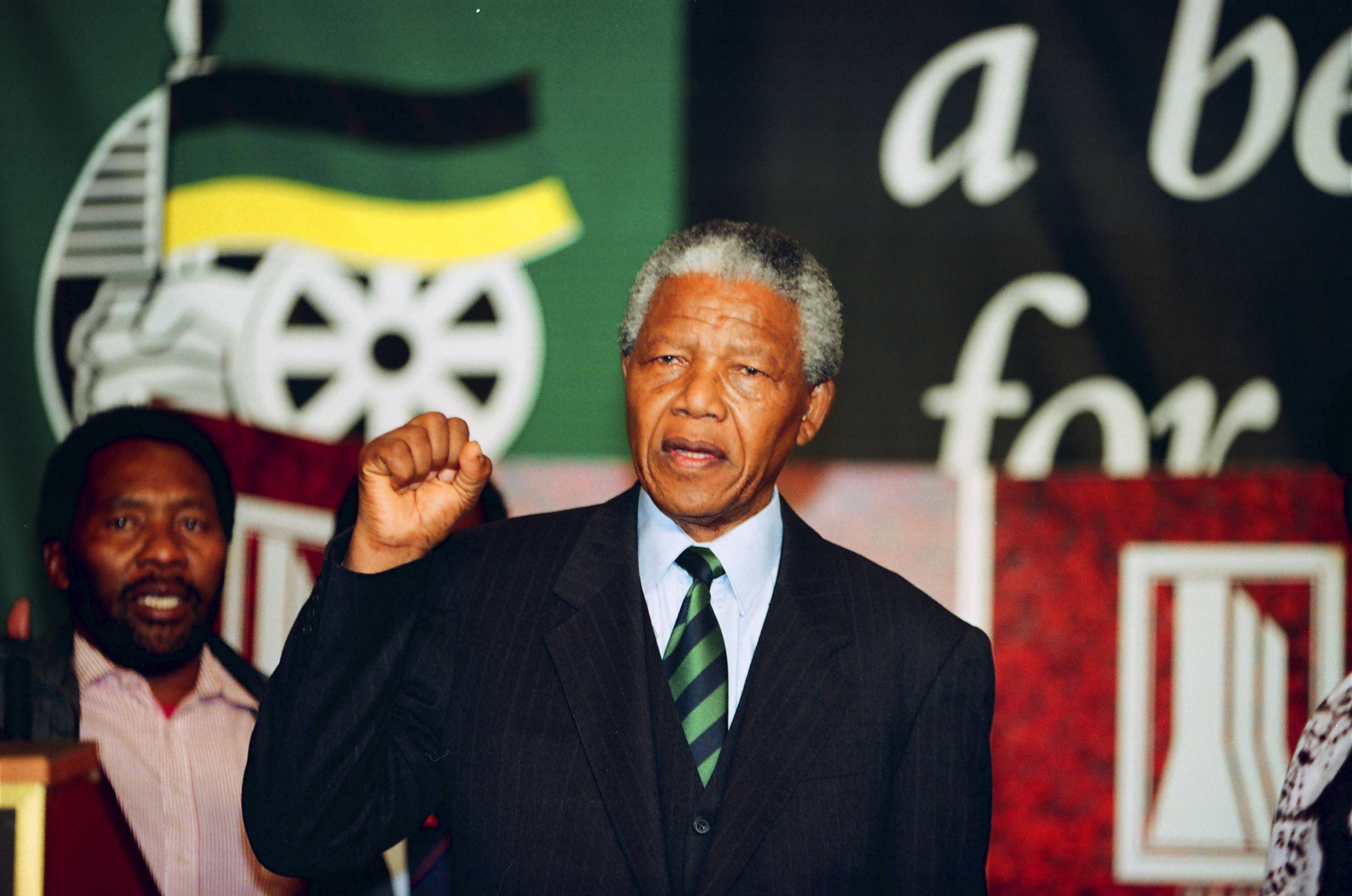 Nelson Mandela President 1994 Almost till his death,...