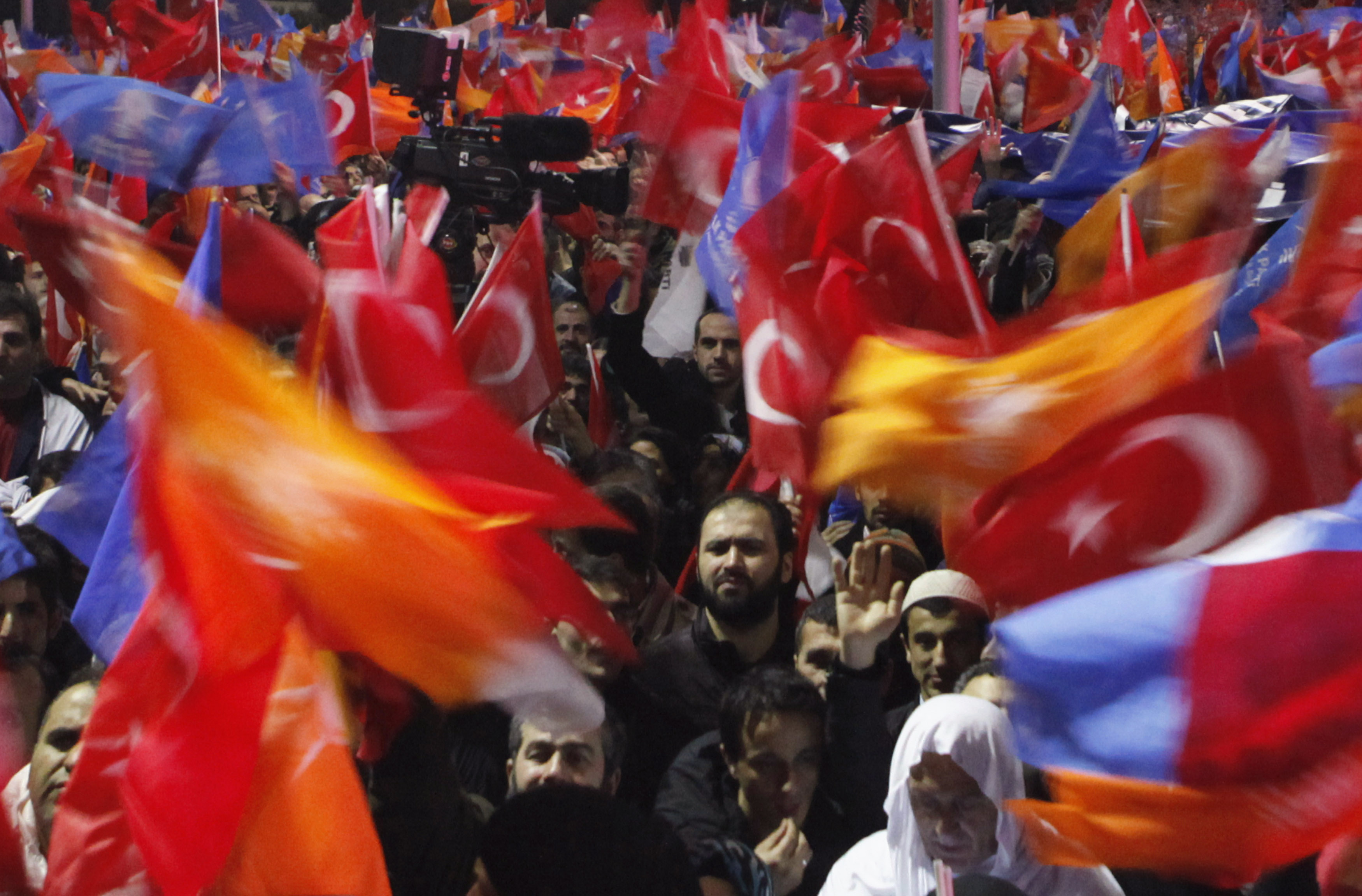 Supporters of Turkey's Prime Minister Tayyip Erdogan