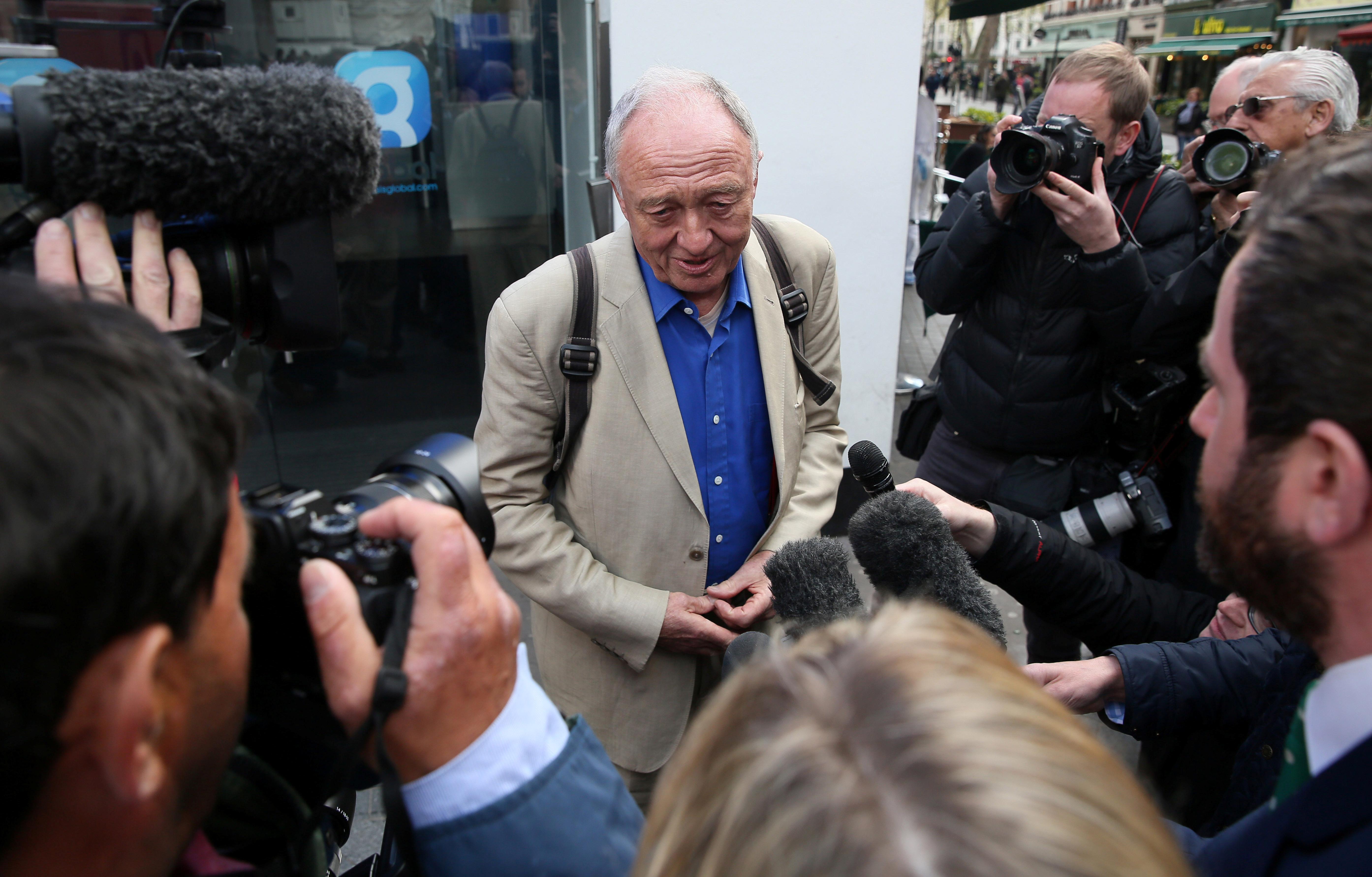 Former London mayor Ken Livingstone speaks to the media in London on April 30, 2016.