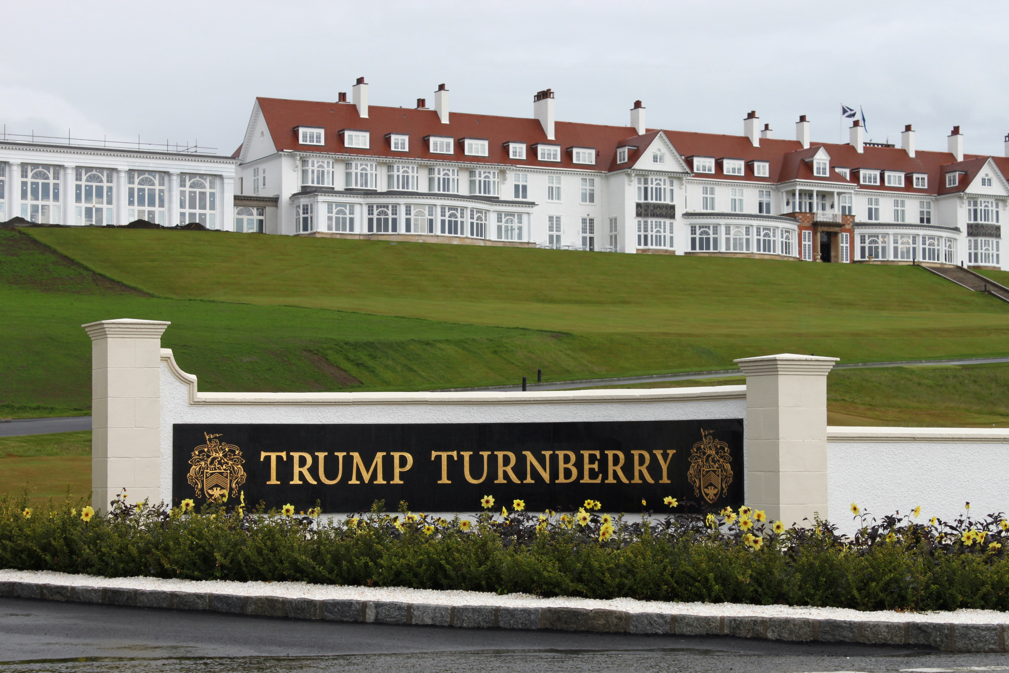 The Trump Turnberry golf resort in Turnberry, Scotland.