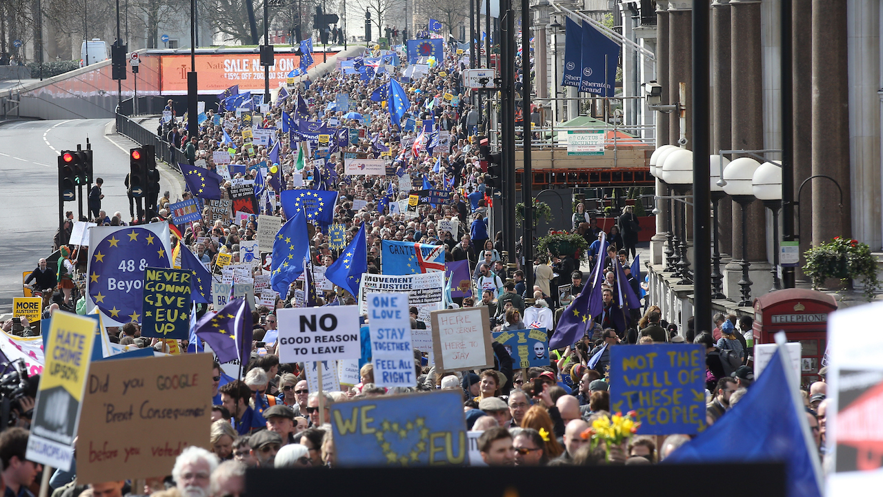 Unite for Europe march